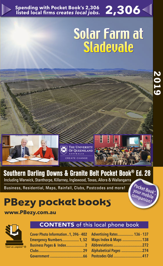 Cover page of Southern Darling Downs, Granite Belt & Districts book