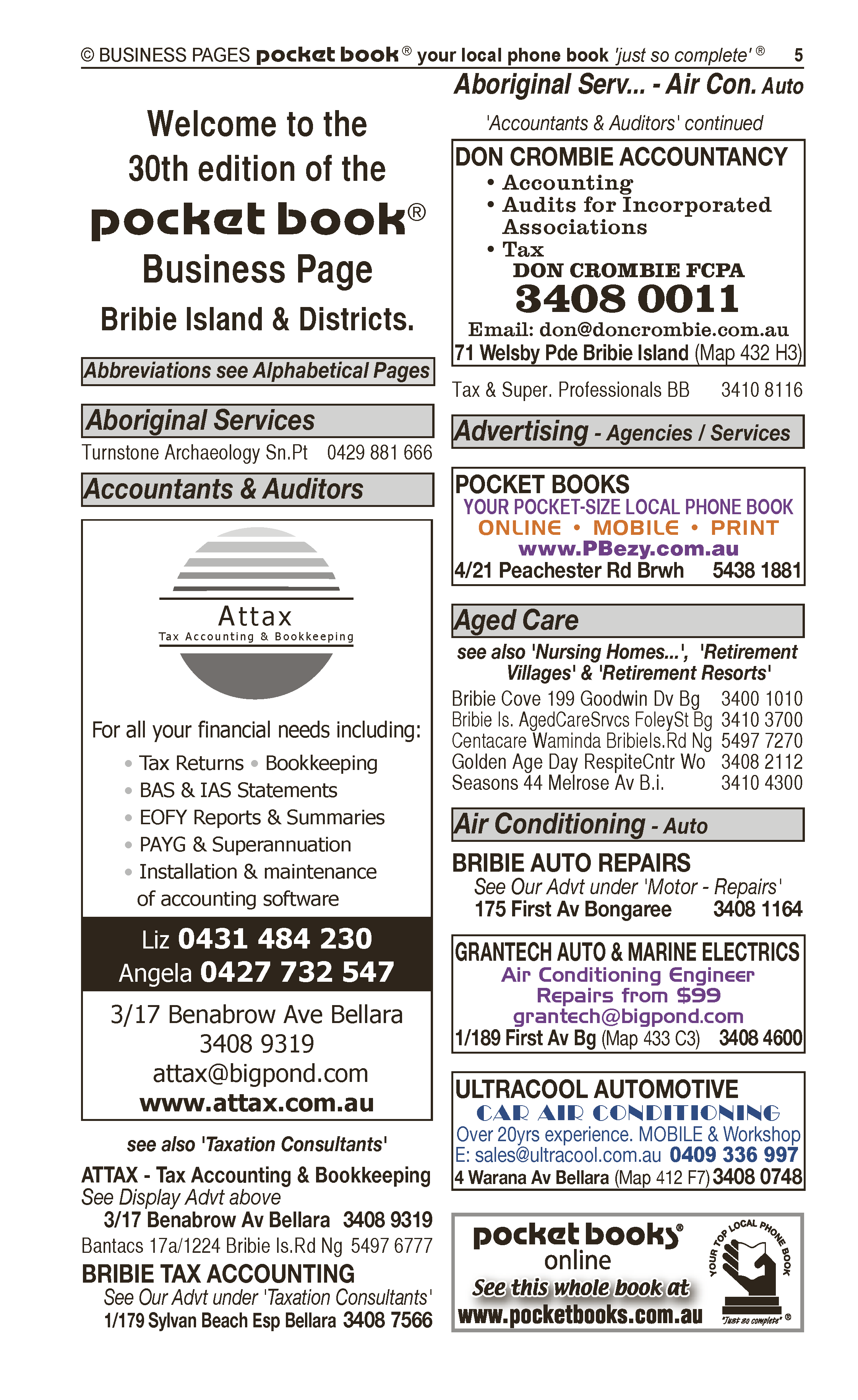 Don Crombie Accountancy | Auditors in Bribie Island | PBezy Pocket Books local directories - page 5