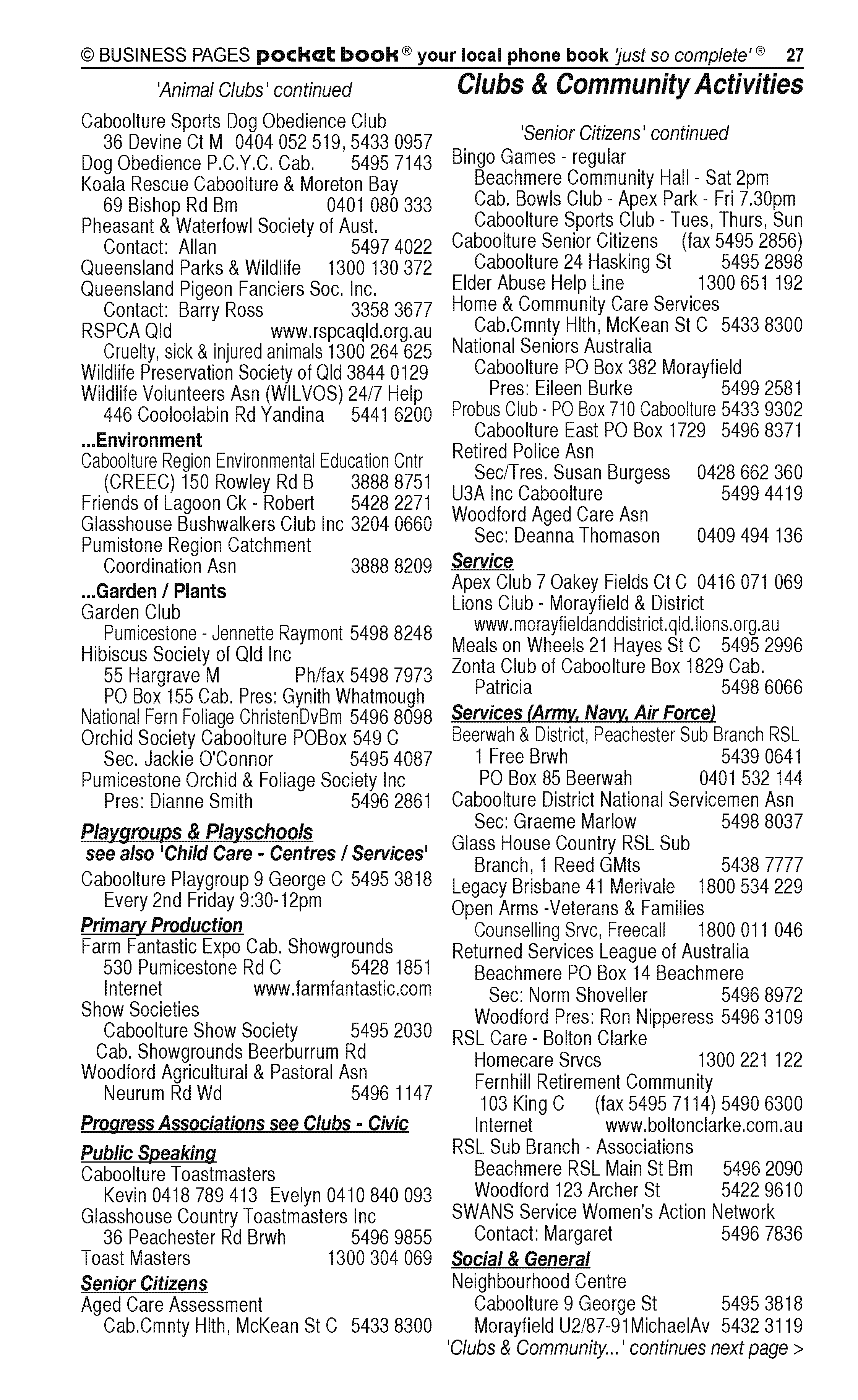 POCKET BOOKS | Advertising Agencies in Beerwah | PBezy Pocket Books local directories - page 27