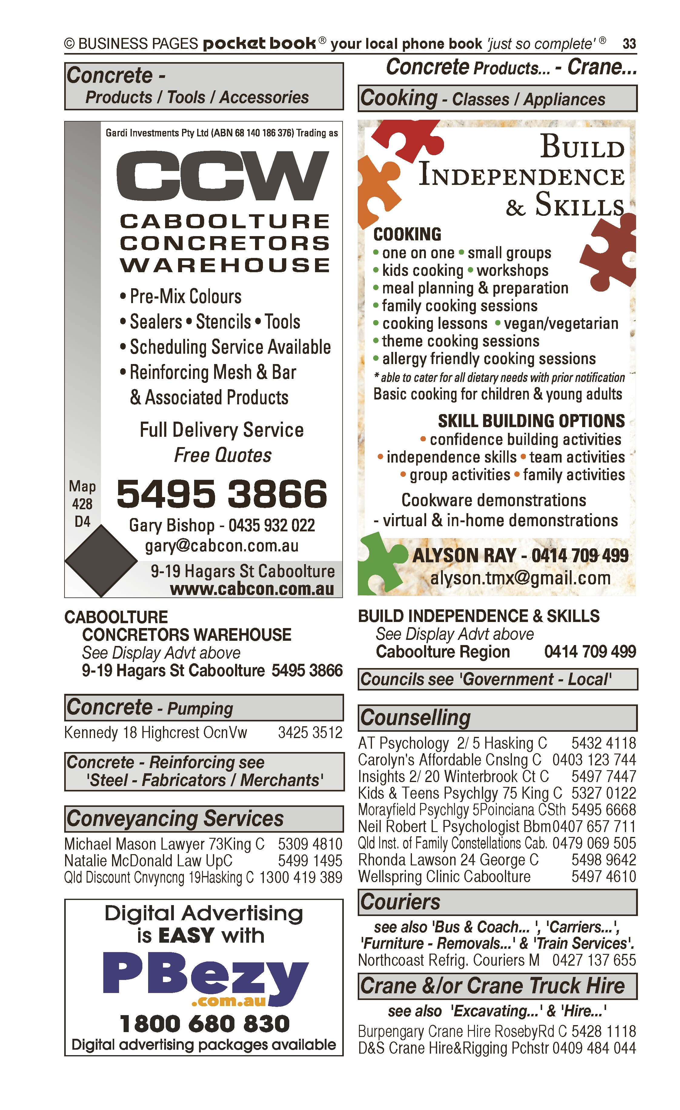 Brooker Fencing | Fencing – Contractors, Materials in Caboolture | PBezy Pocket Books local directories - page 33