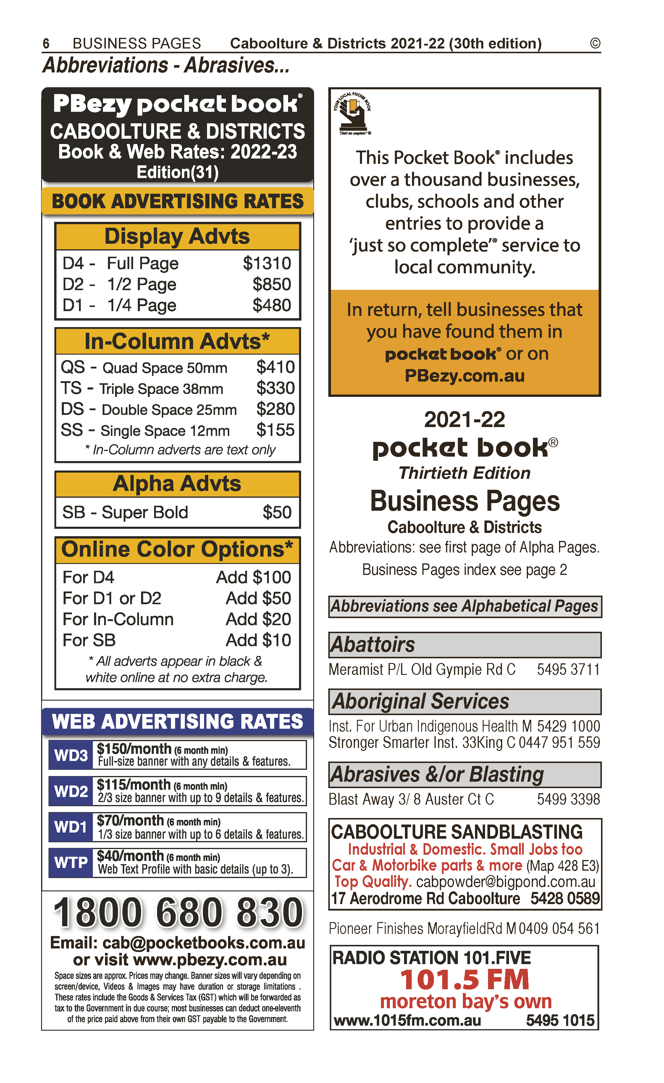 POCKET BOOKS | Advertising Agencies in Beerwah | PBezy Pocket Books local directories - page 6