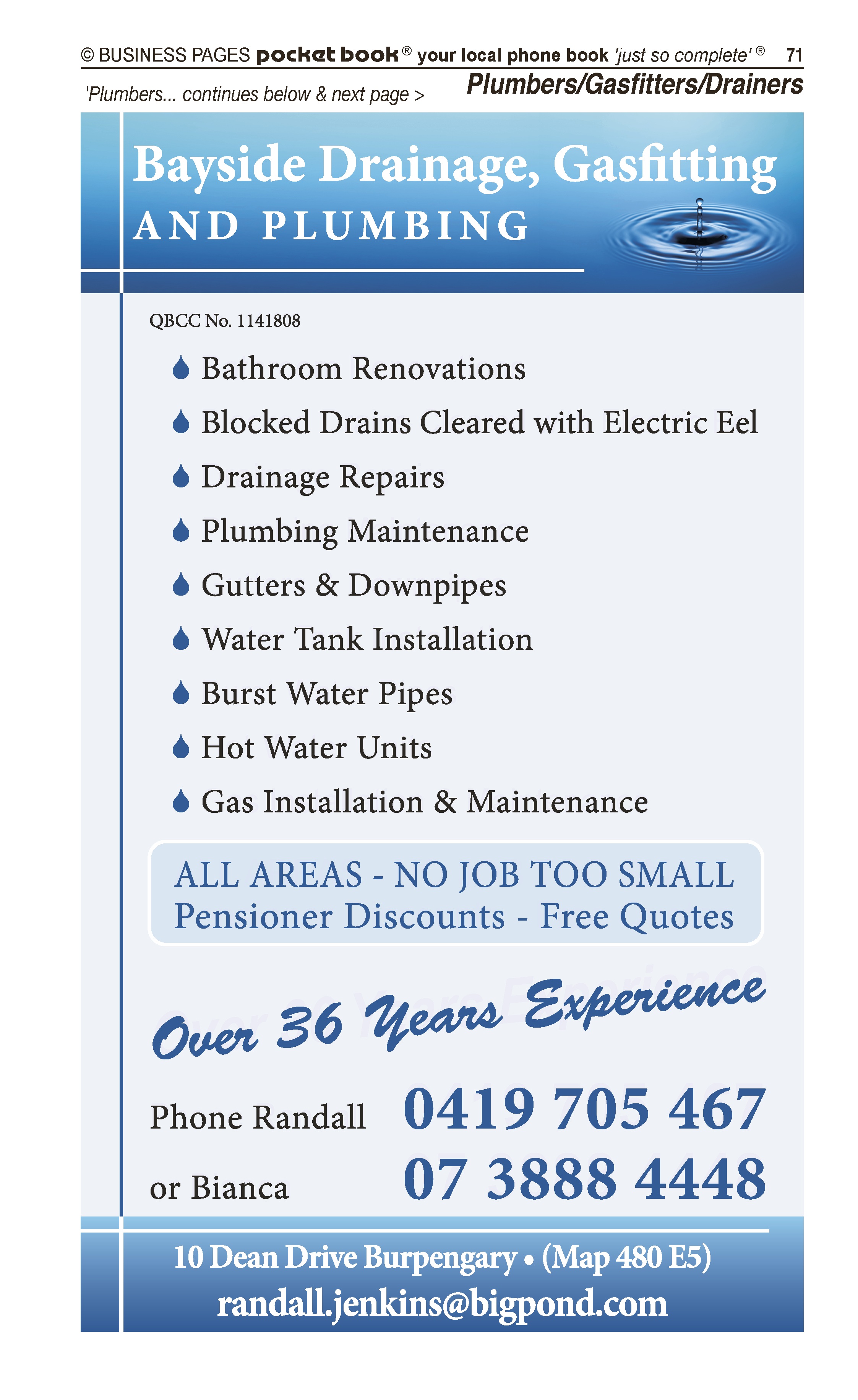 Caboolture & District Septic Cleaning | Septic Tank – Cleaning in Caboolture | PBezy Pocket Books local directories - page 71