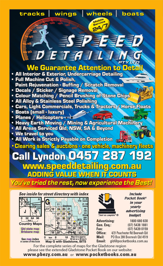 Speed Detailing Pty Ltd | Agricultural – Machinery & Services in Gladstone | PBezy Pocket Books local directories - page -3