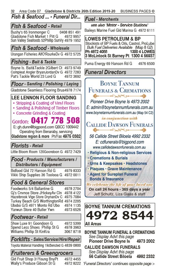 Lowes Petroleum & BP   Fuel Merchants in Barney Point   PBezy Pocket Books local directories - page 32