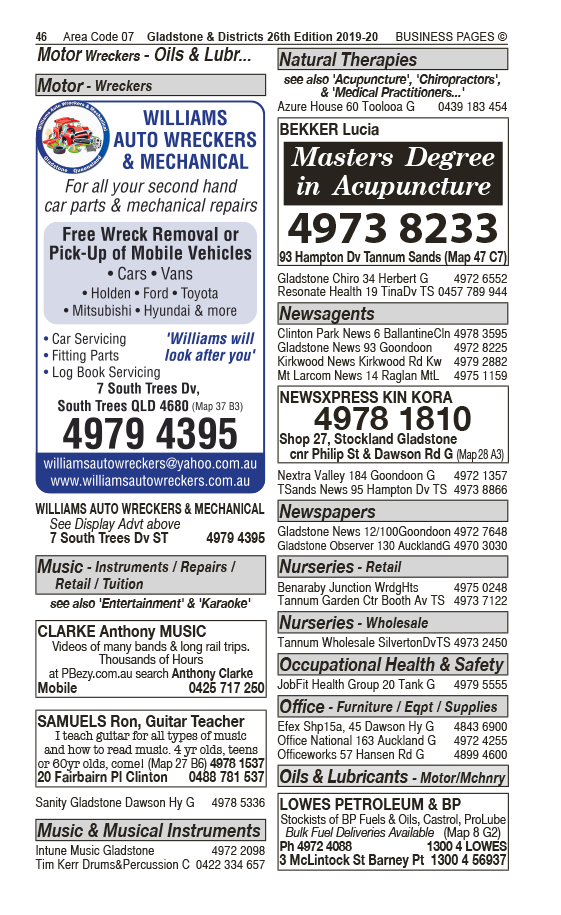 Gladstone Water Cartage & Plant Hire Pty Ltd in Gladstone QLD - page 46