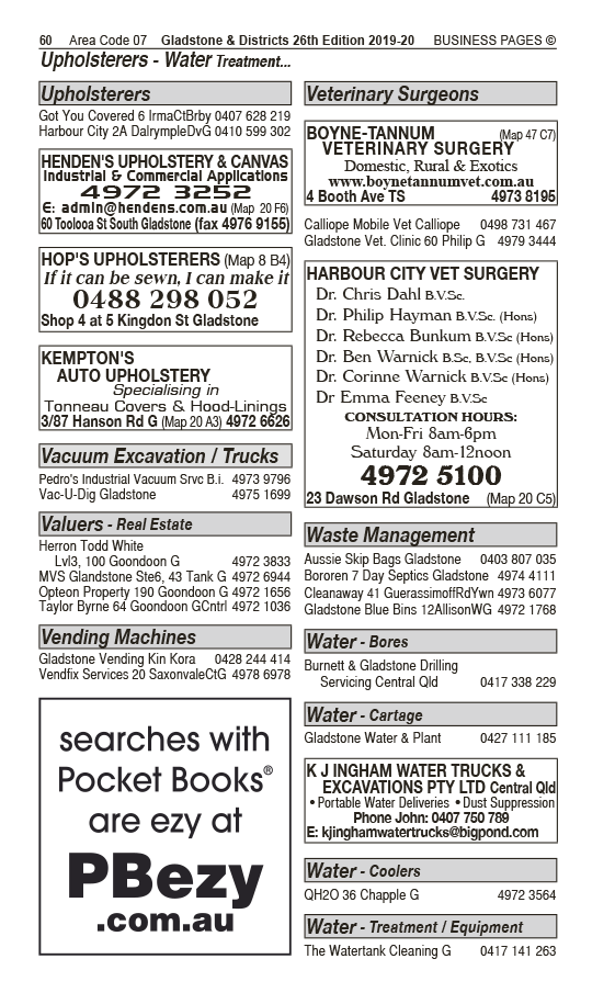 Harbour City Vet Surgery | Veterinary Surgeons, Services in Gladstone | PBezy Pocket Books local directories - page 60