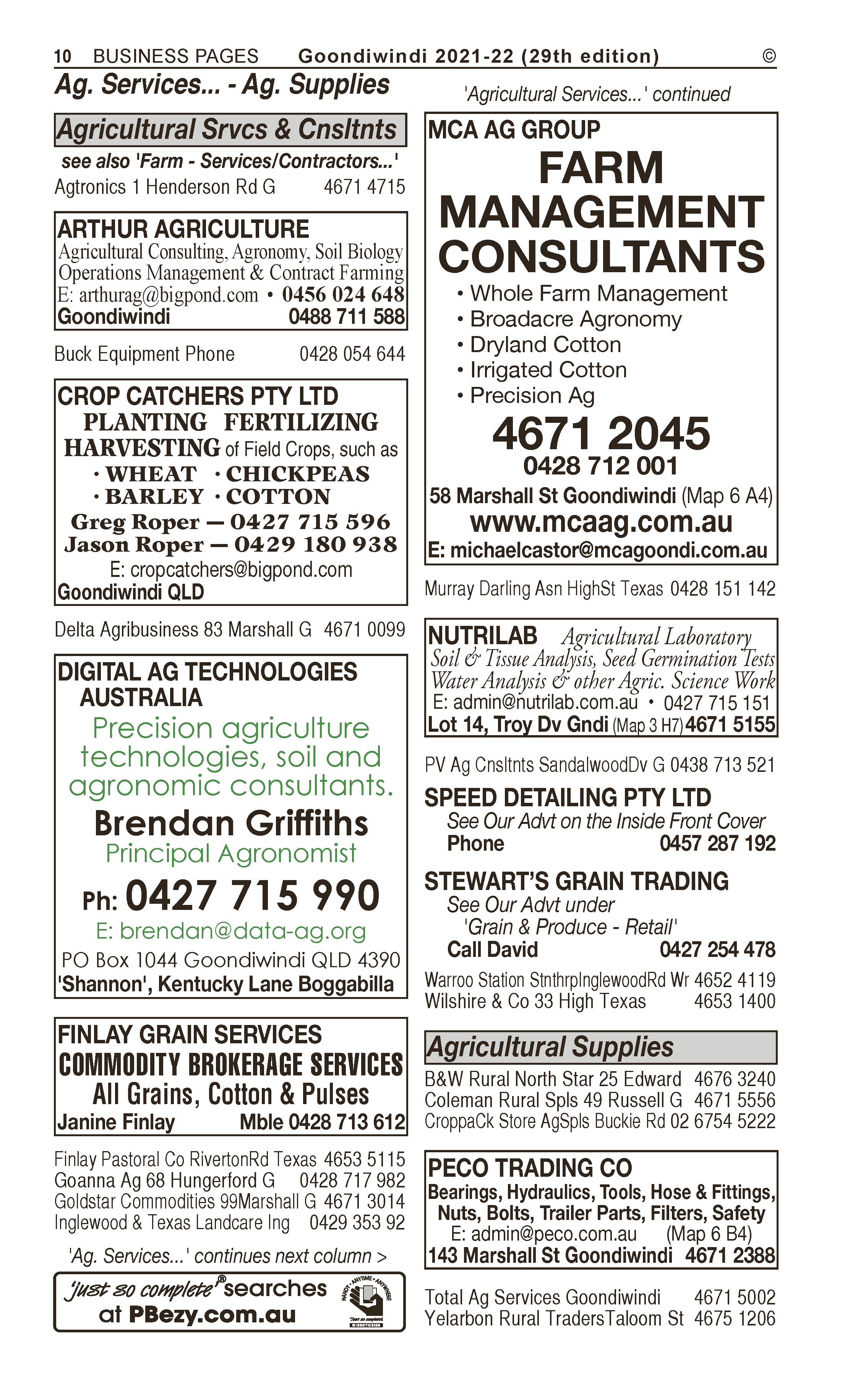 Pacific Seeds | Agricultural – Supplies in Goondiwindi | PBezy Pocket Books local directories - page 10
