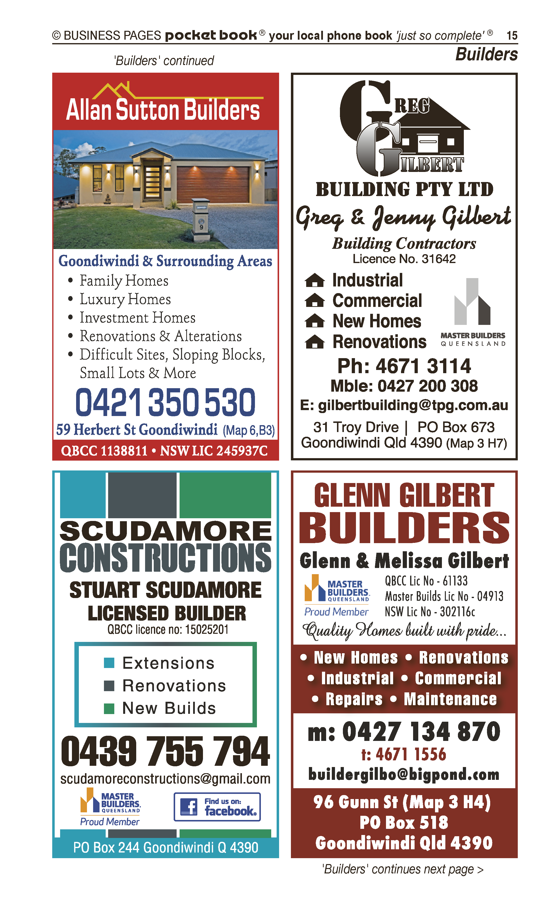 Thwaite Building Solutions Pty Ltd | Builders & Building Consultants in Goondiwindi | PBezy Pocket Books local directories - page 15