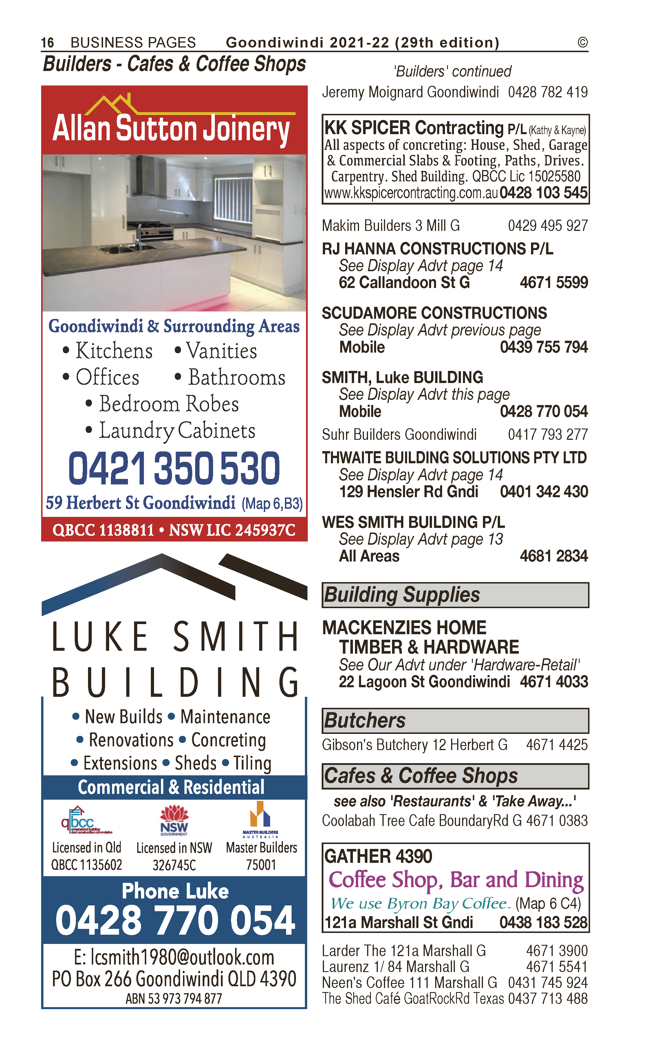 Dixon Homes | Builders & Building Consultants in Goondiwindi | PBezy Pocket Books local directories - page 16