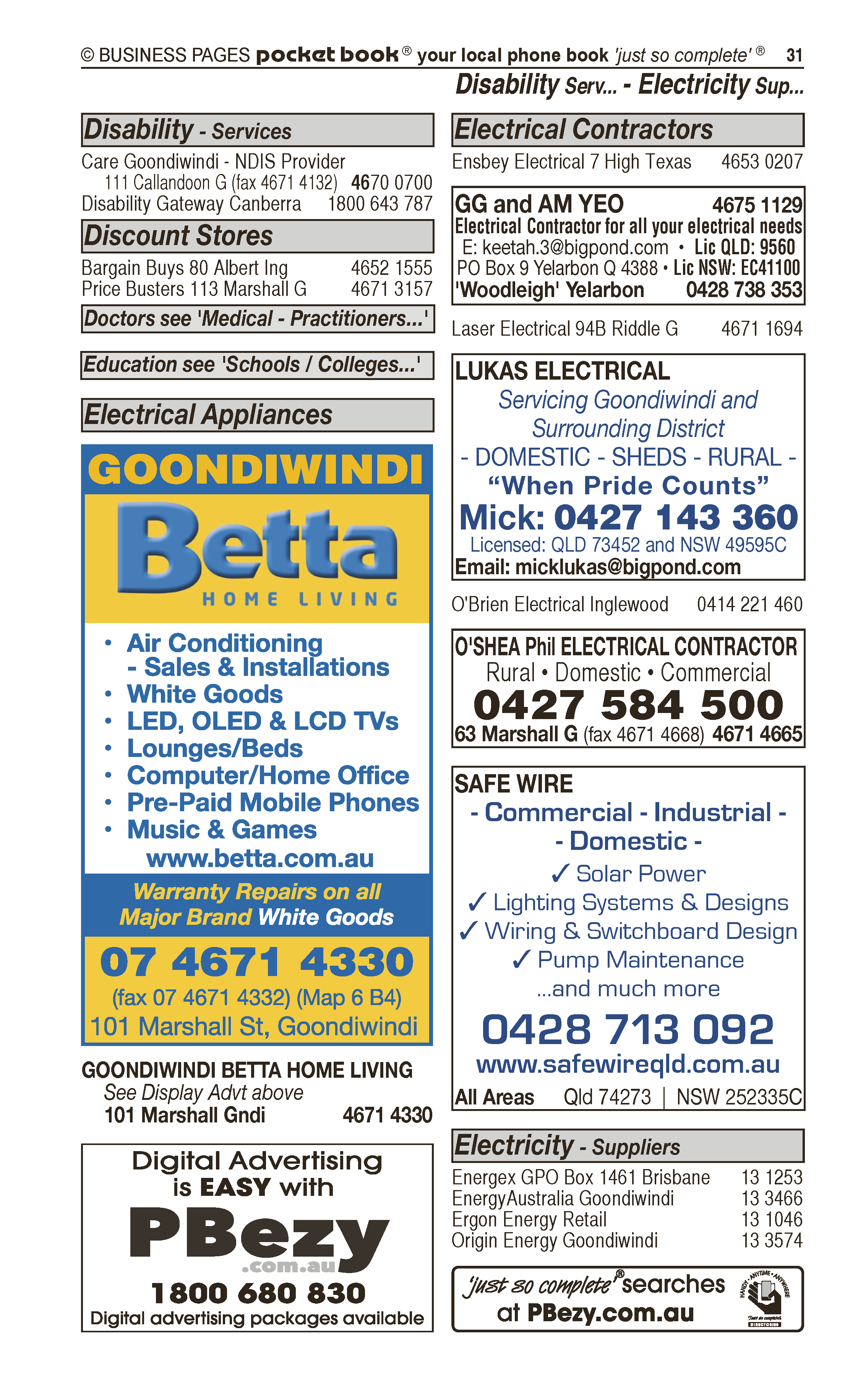 Thwaite Building Solutions Pty Ltd | Builders & Building Consultants in Goondiwindi | PBezy Pocket Books local directories - page 31