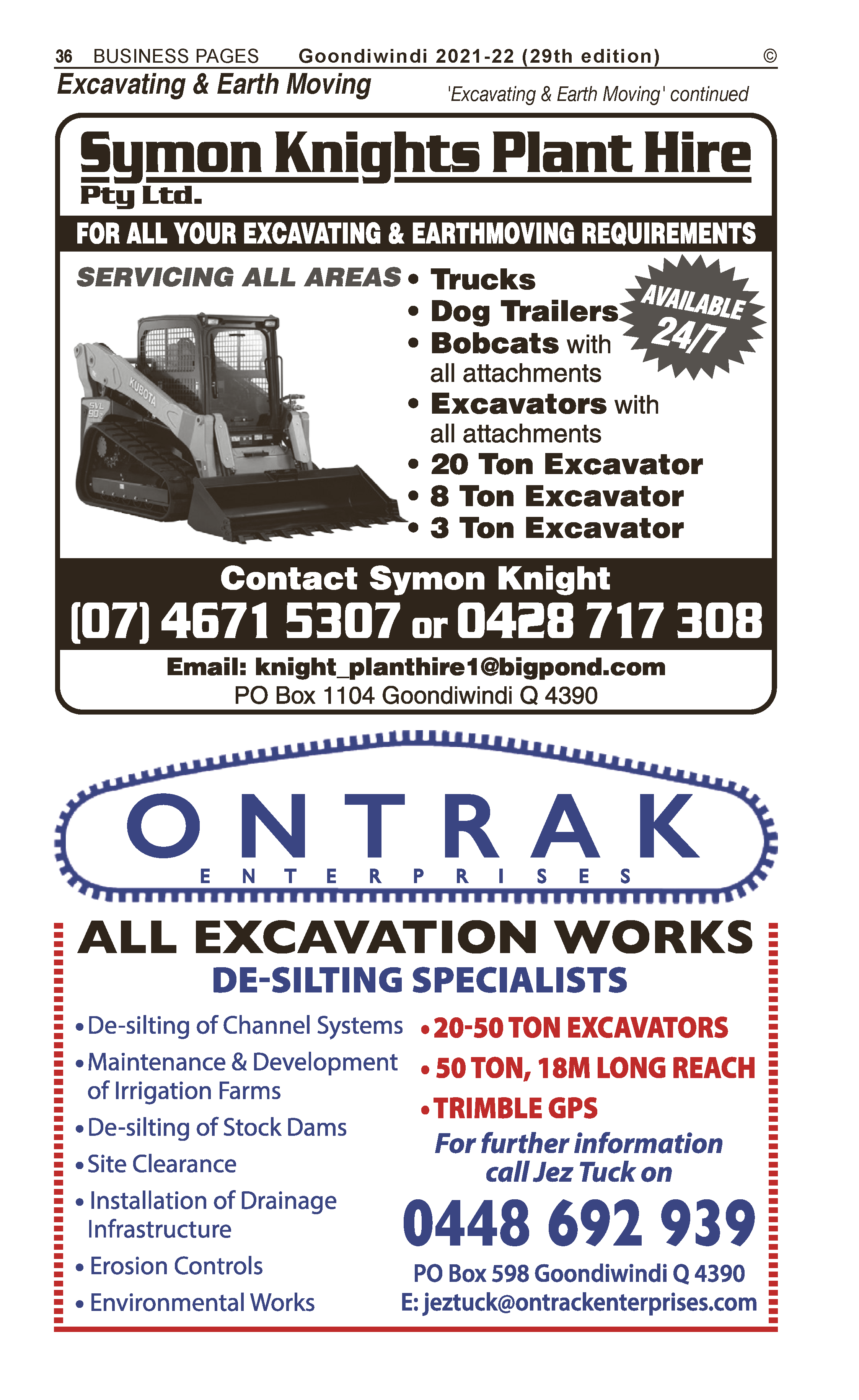 Anthony L. Clarke | Agricultural – Machinery & Services in Warracknabeal | PBezy Pocket Books local directories - page 36