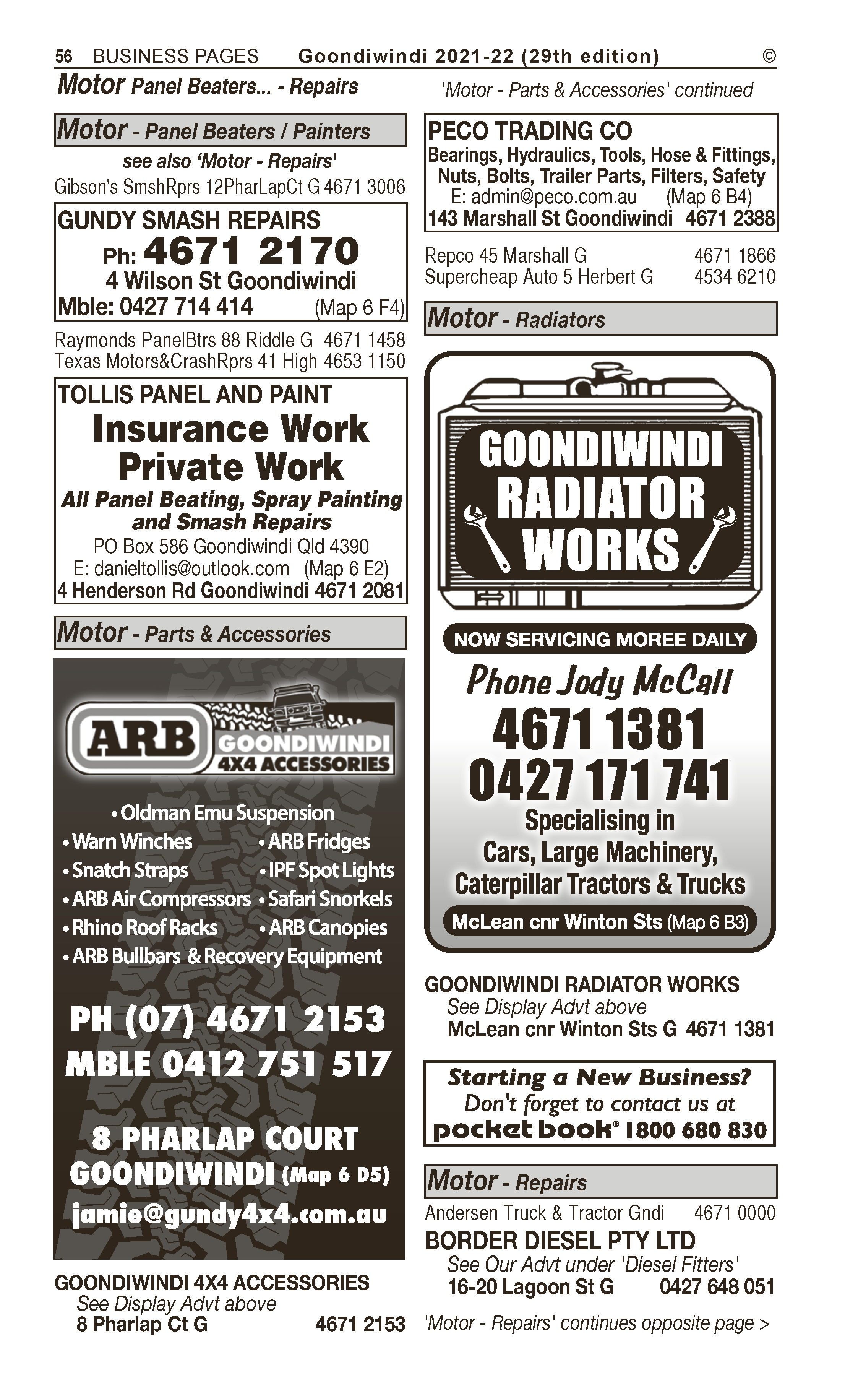 Hillard Michael Transport | Livestock – Transport Services in Goondiwindi | PBezy Pocket Books local directories - page 56