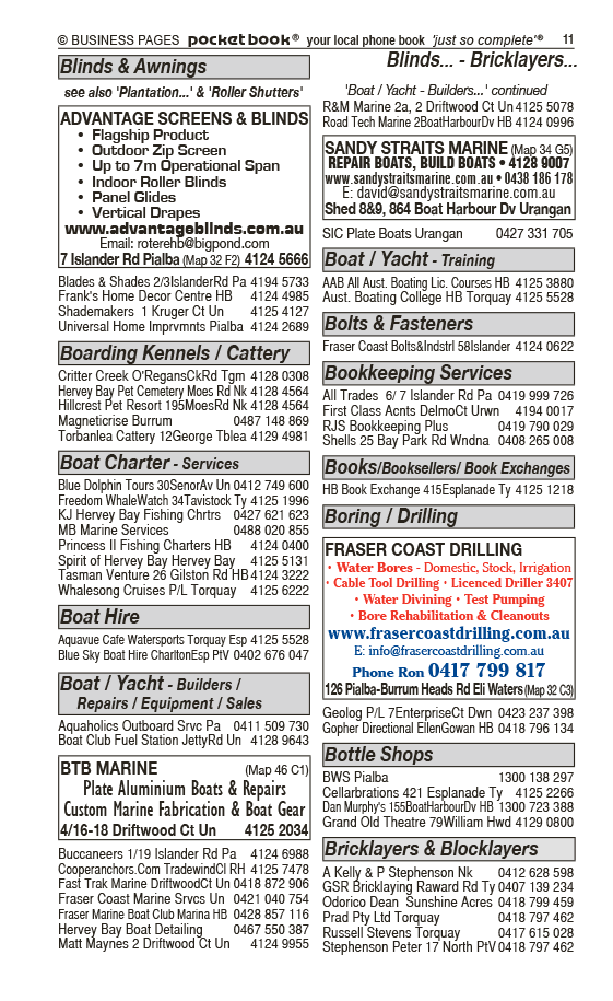 Advantage Screens & Blinds | Blinds & Awnings in Pialba | PBezy Pocket Books local directories - page 11