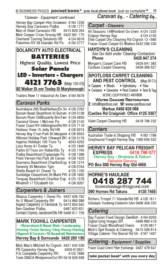 Spotloss Carpet Cleaning And Pest Control | Carpet Cleaning in Craignish | PBezy Pocket Books local directories - page 15