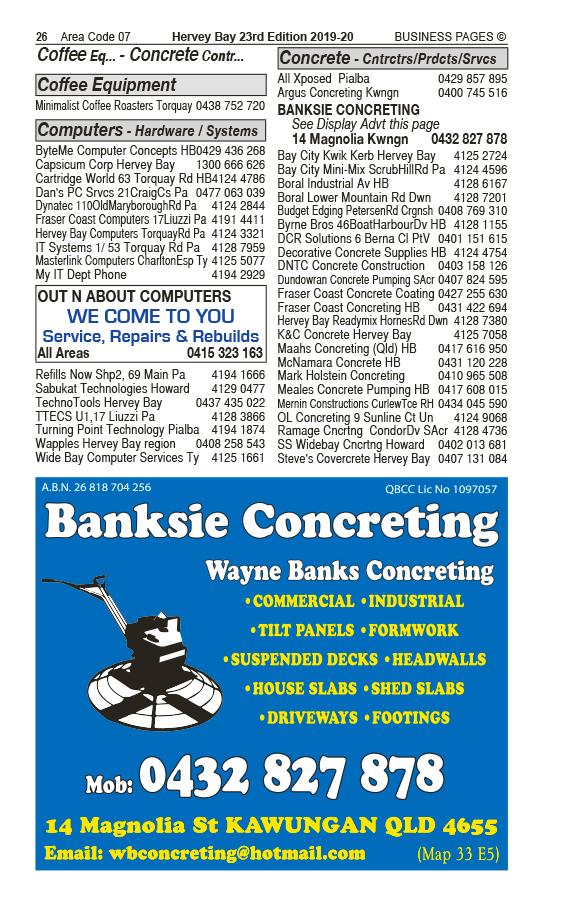 Banksie Concreting in Kawungan QLD - page 26