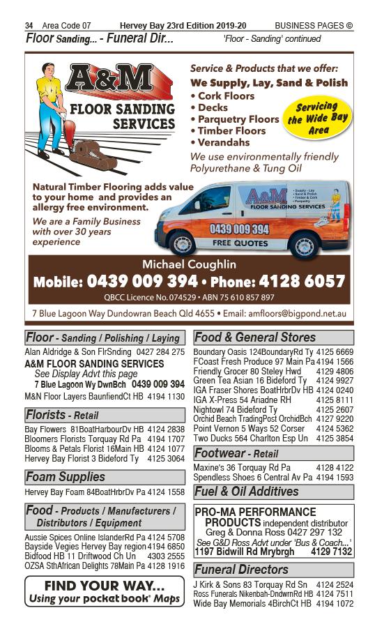 A&M Floor Sanding Services | Floor Sanding in Dundowran Beach | PBezy Pocket Books local directories - page 34