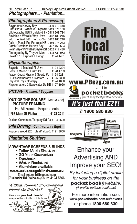 Advantage Screens & Blinds | Blinds & Awnings in Pialba | PBezy Pocket Books local directories - page 50