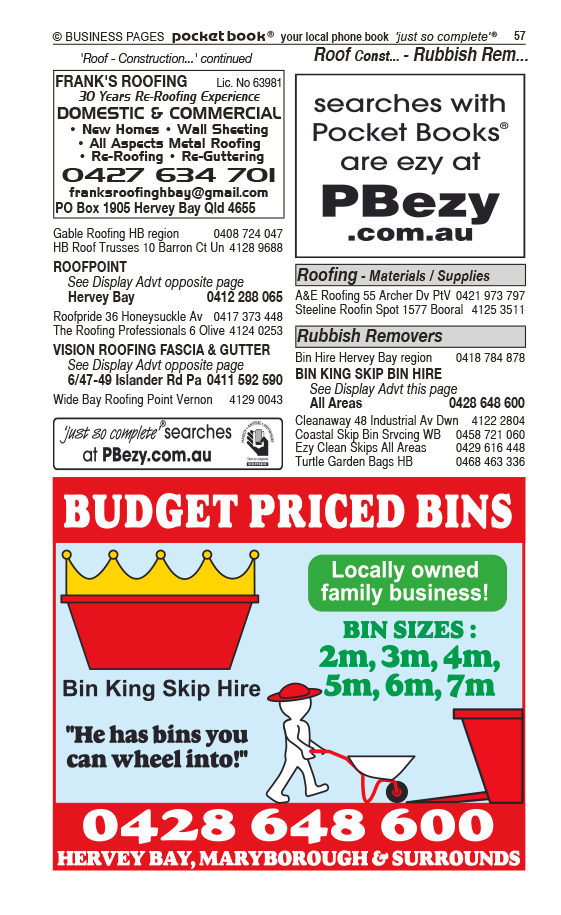 Bay Trash Pak Hervey Bay in Hervey Bay QLD - page 57