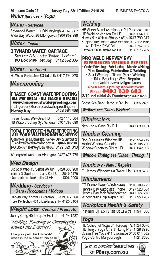 Pro Weld Hervey Bay Pty Ltd | Welding in Dundowran | PBezy Pocket Books local directories - page 66