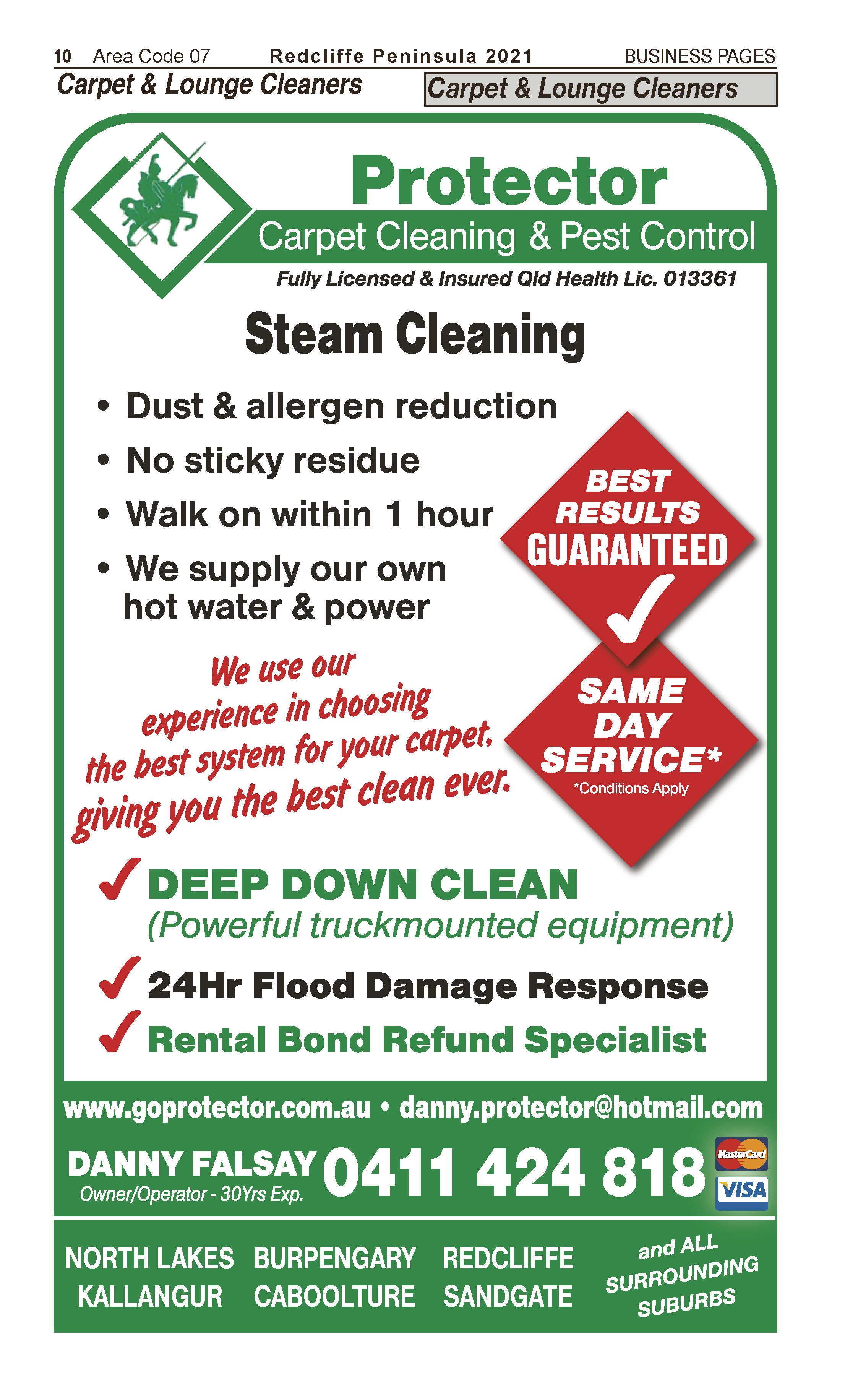 Protector Carpet Cleaning & Pest Control | Upholstery Cleaners in Kippa Ring | PBezy Pocket Books local directories - page 10