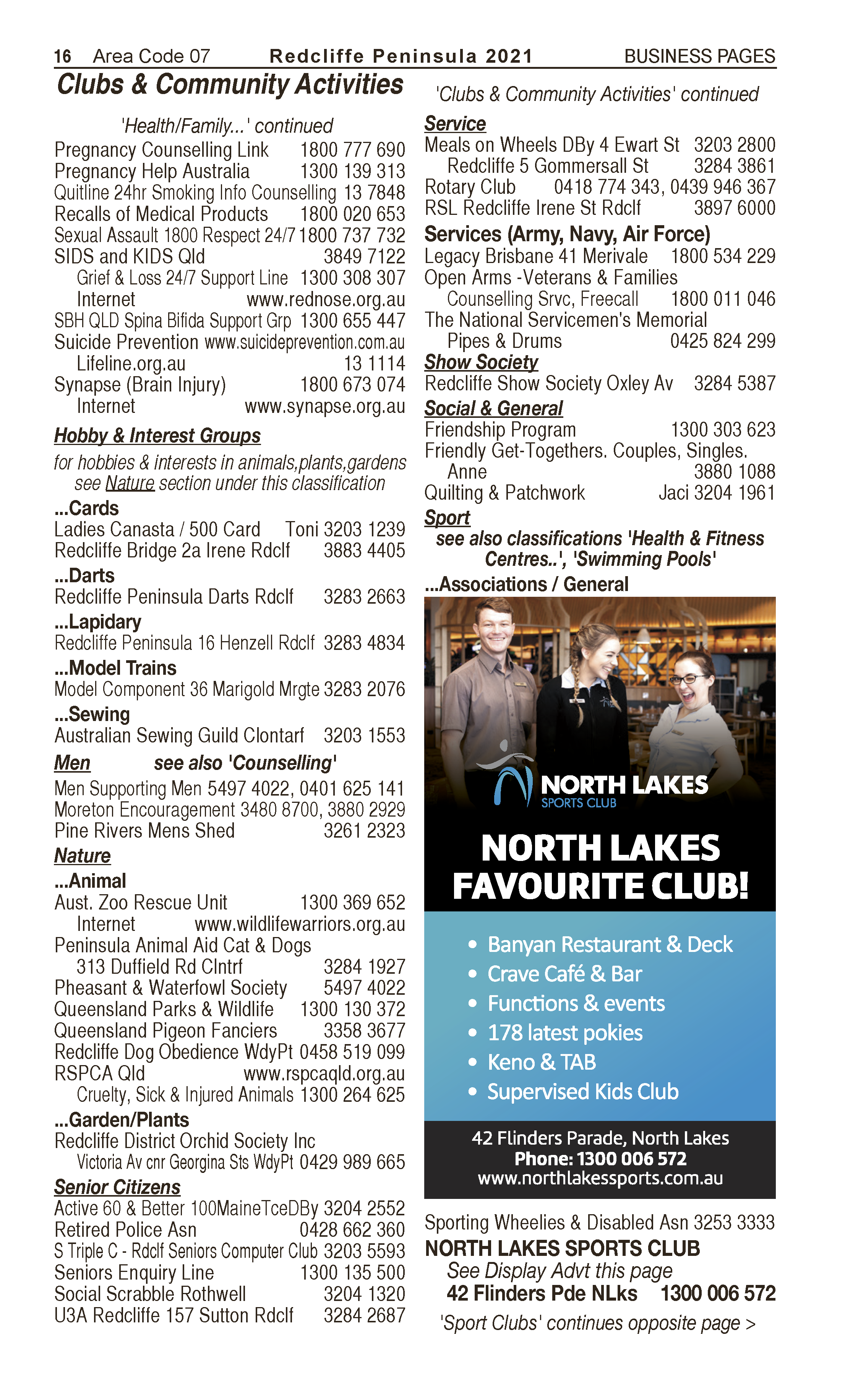 North Lakes Sports Club | Sports Associations & Sports General in North Lakes | PBezy Pocket Books local directories - page 16
