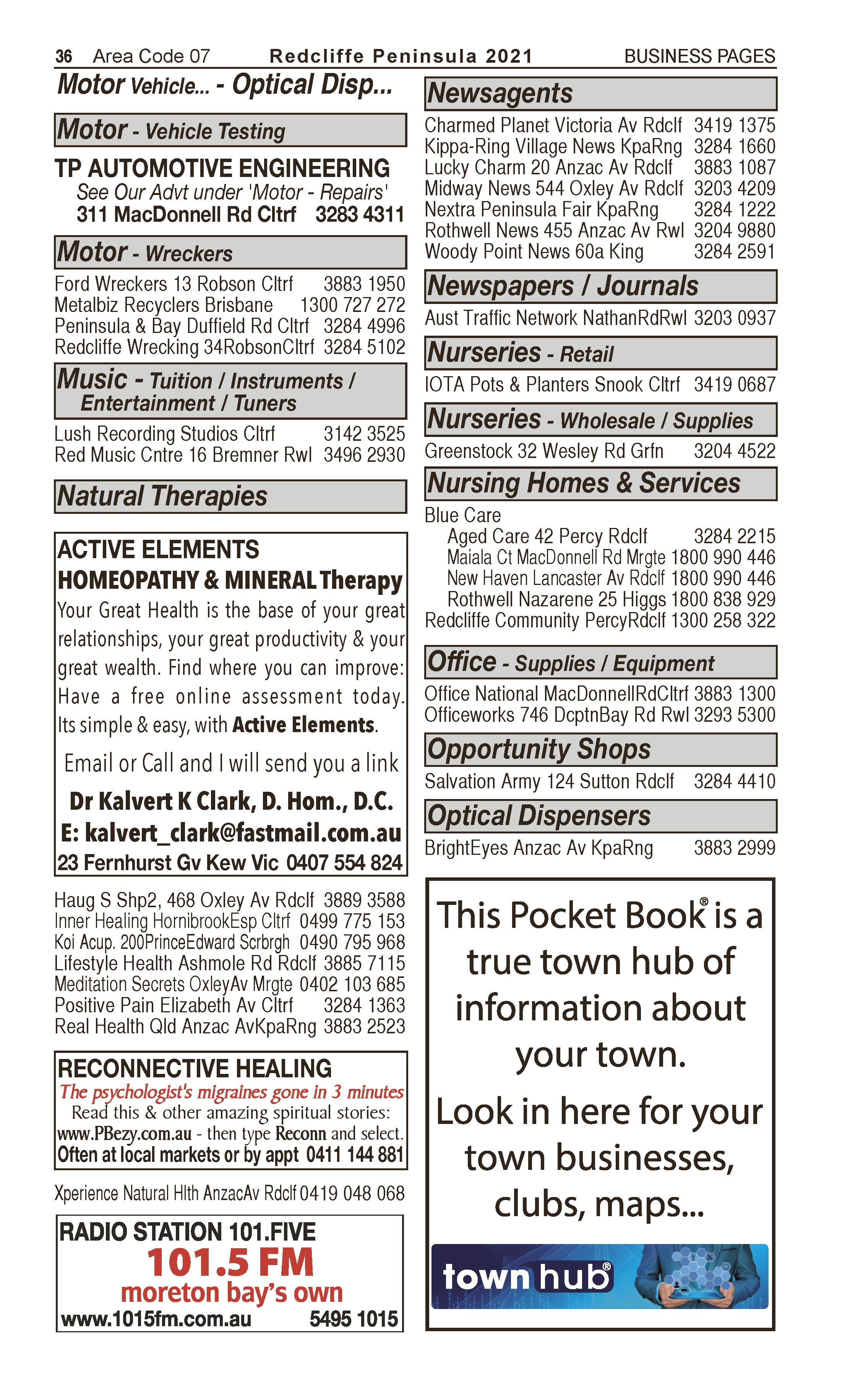 Active Elements | Natural Therapies in Kew | PBezy Pocket Books local directories - page 36
