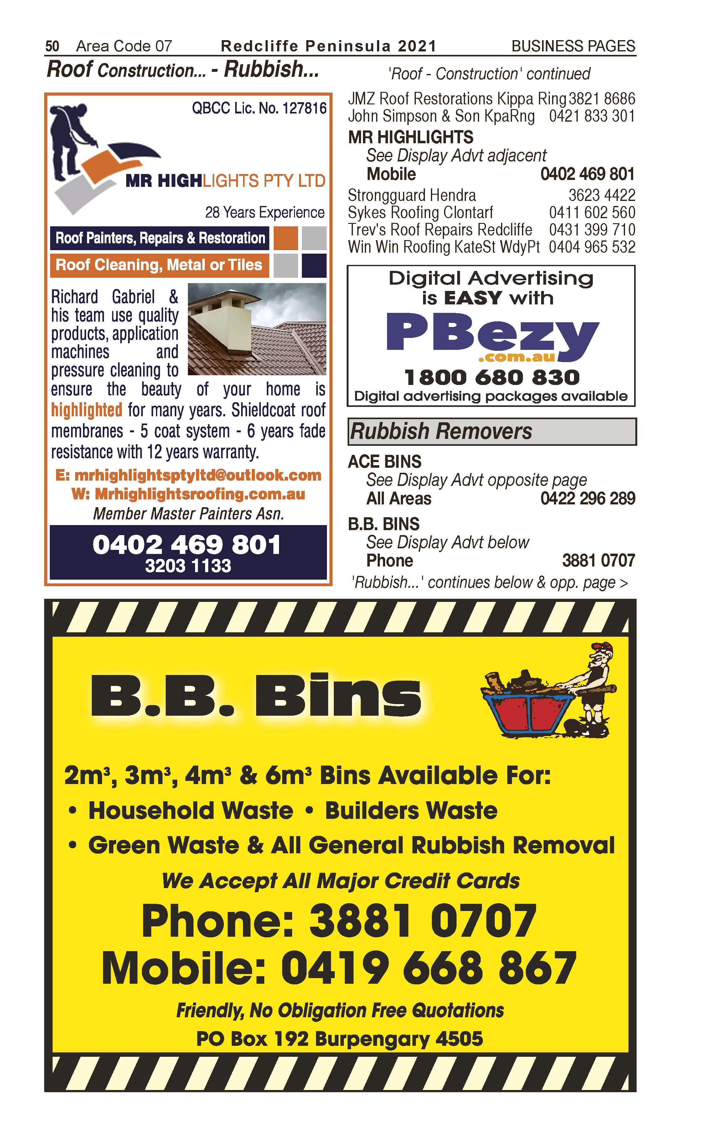 Ace Bins | Rubbish Removers, Rubbish Removal in Morayfield | PBezy Pocket Books local directories - page 50