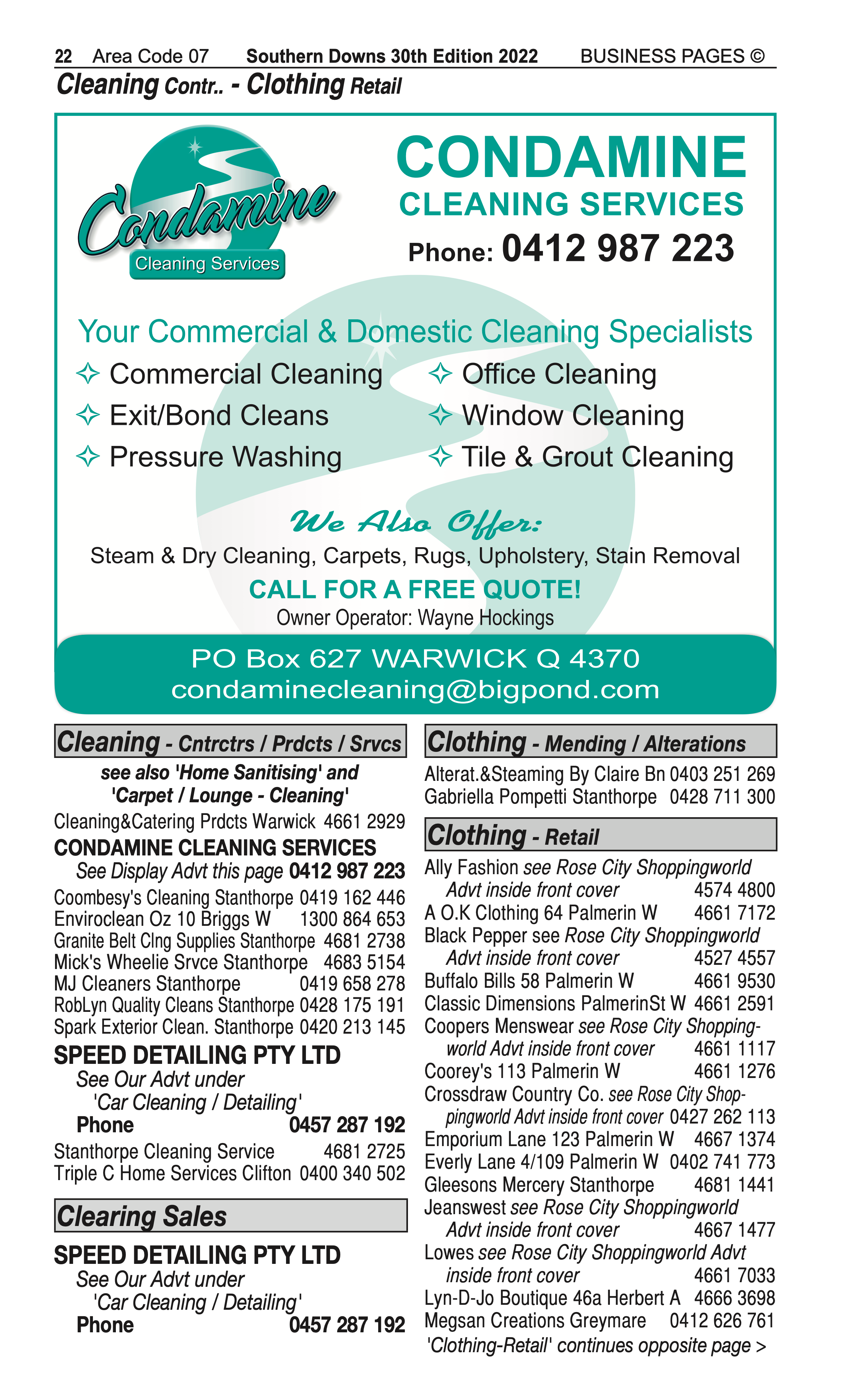 Andersens Carpets | Blinds & Awnings in Warwick | PBezy Pocket Books local directories - page 22