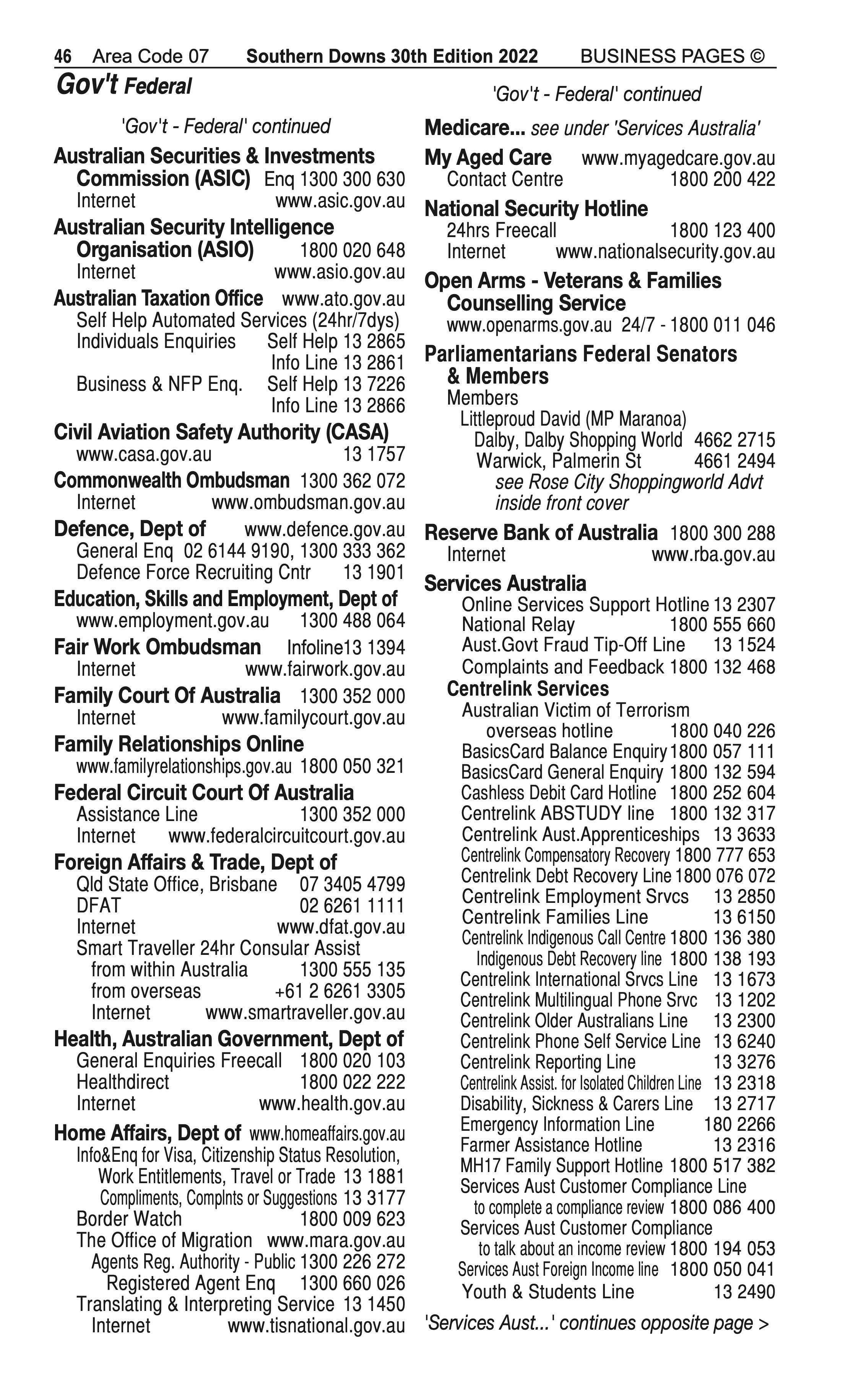 KJ & LA Madsen   Excavating & Earth Moving Services in Warwick   PBezy Pocket Books local directories - page 46