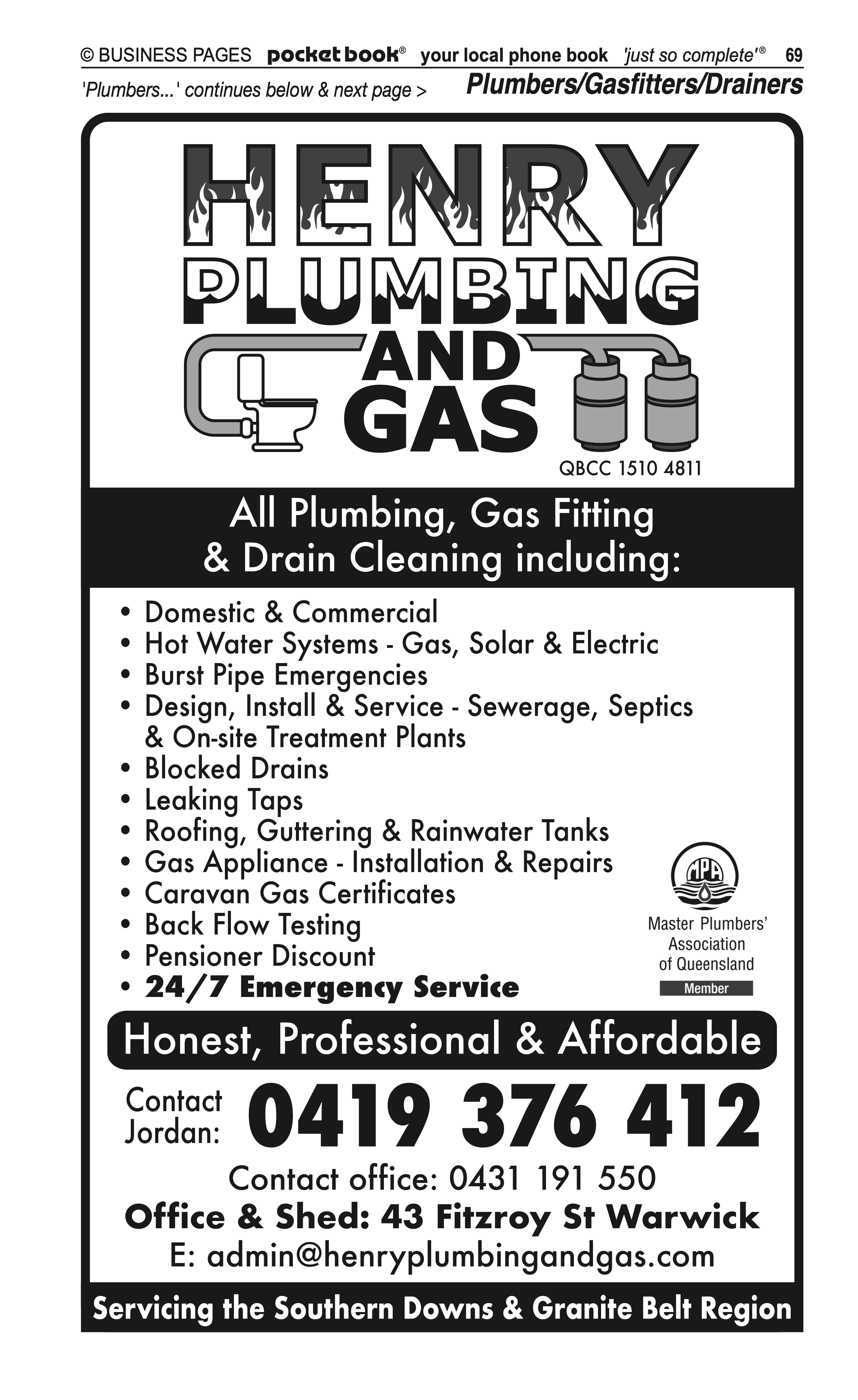 Albion St Auto Centre | Motor – Mufflers, Exhausts in Warwick | PBezy Pocket Books local directories - page 69