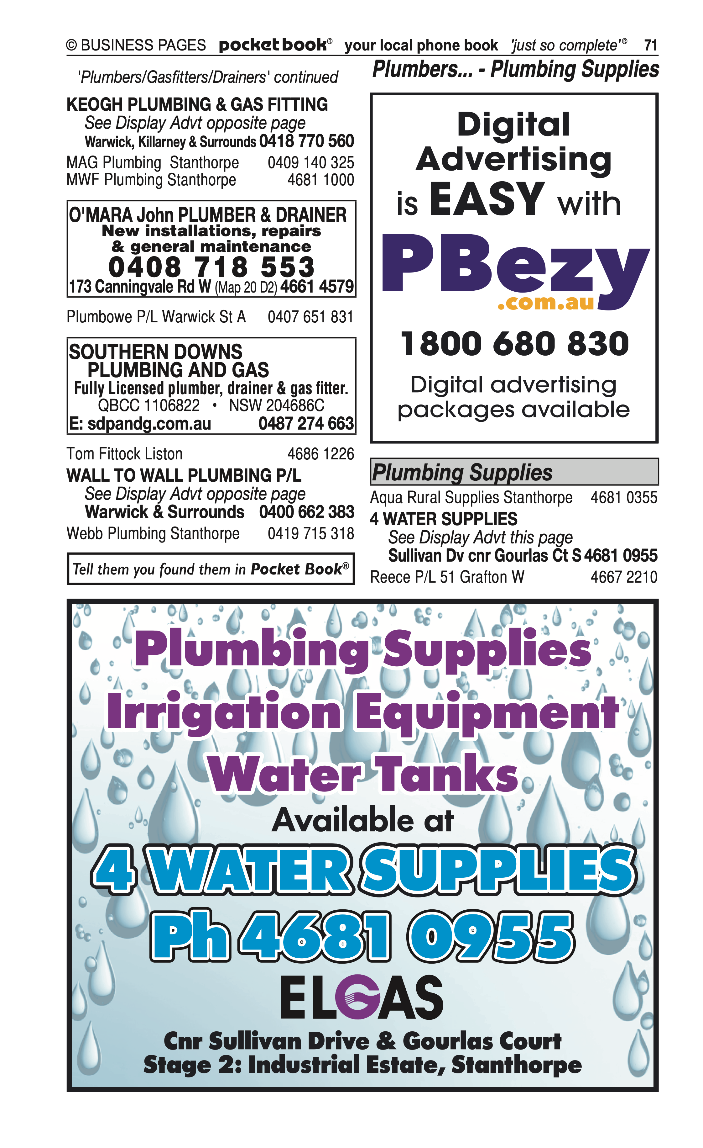 Mid City Collision Repair Centre | Motor – Panel Beaters, Painters in Warwick | PBezy Pocket Books local directories - page 71