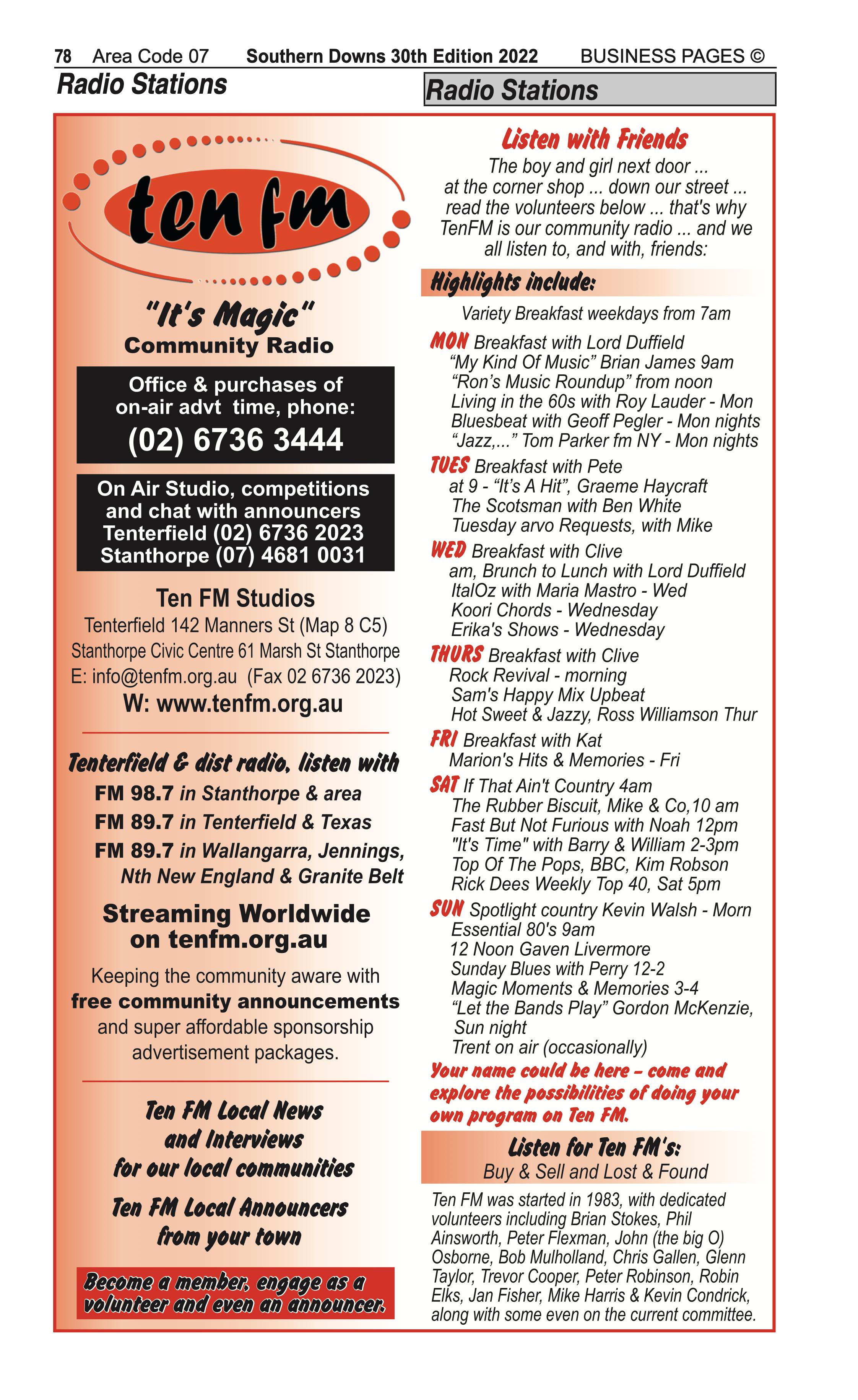 4 Water Supplies | Irrigation in Stanthorpe | PBezy Pocket Books local directories - page 78