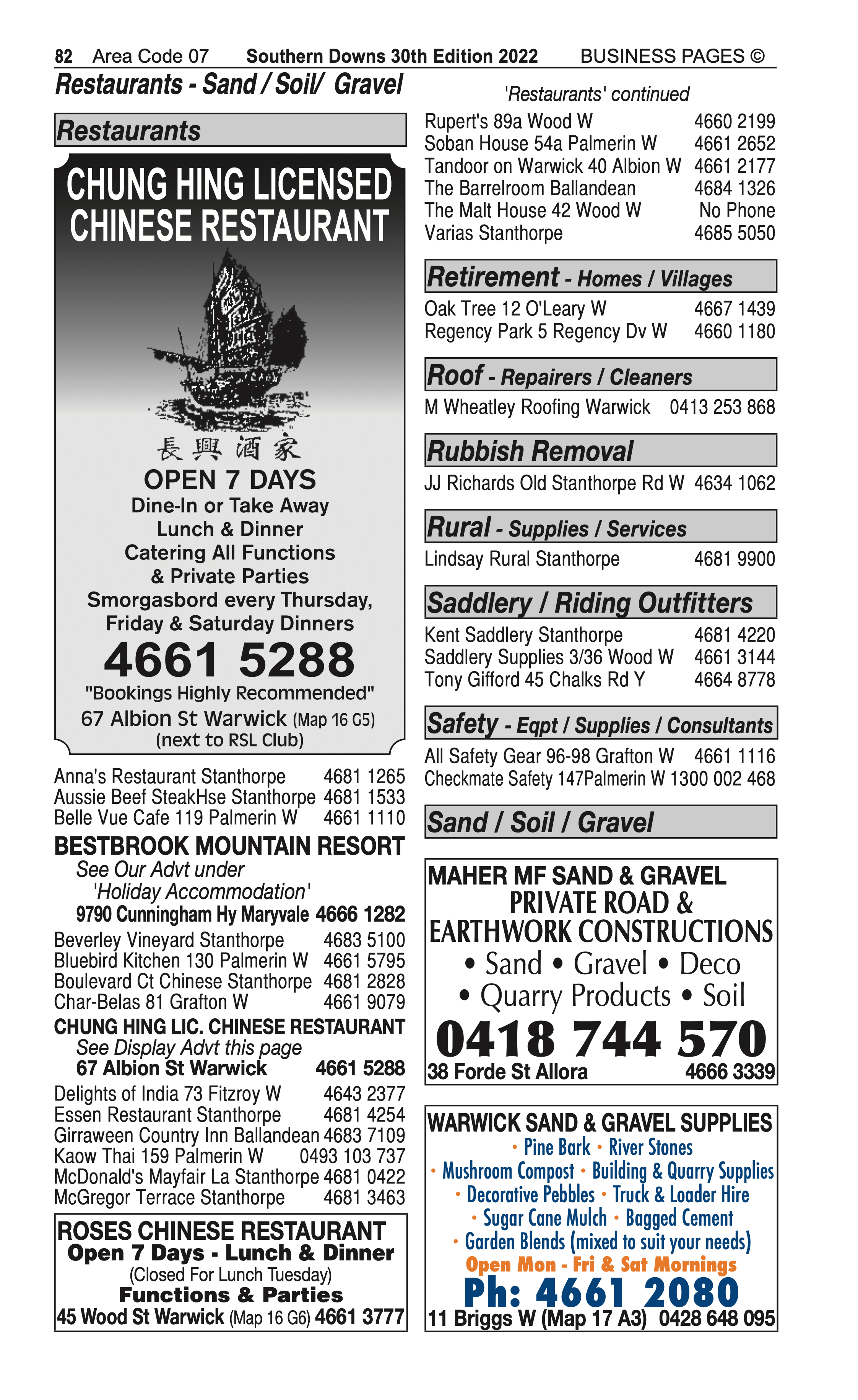 4 Water Supplies | Irrigation in Stanthorpe | PBezy Pocket Books local directories - page 82
