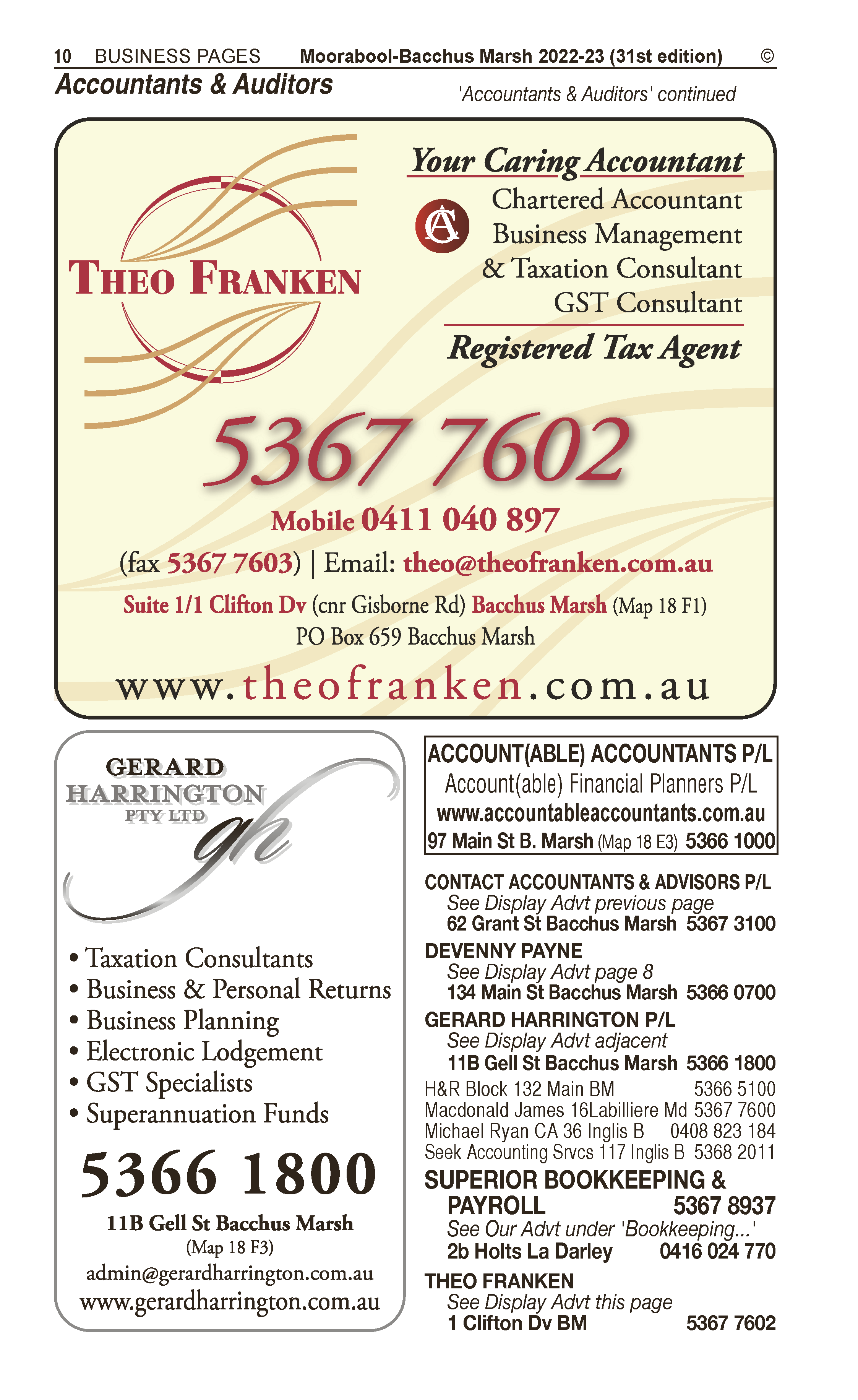 Accounts By Day | Auditors in Bacchus Marsh | PBezy Pocket Books local directories - page 10