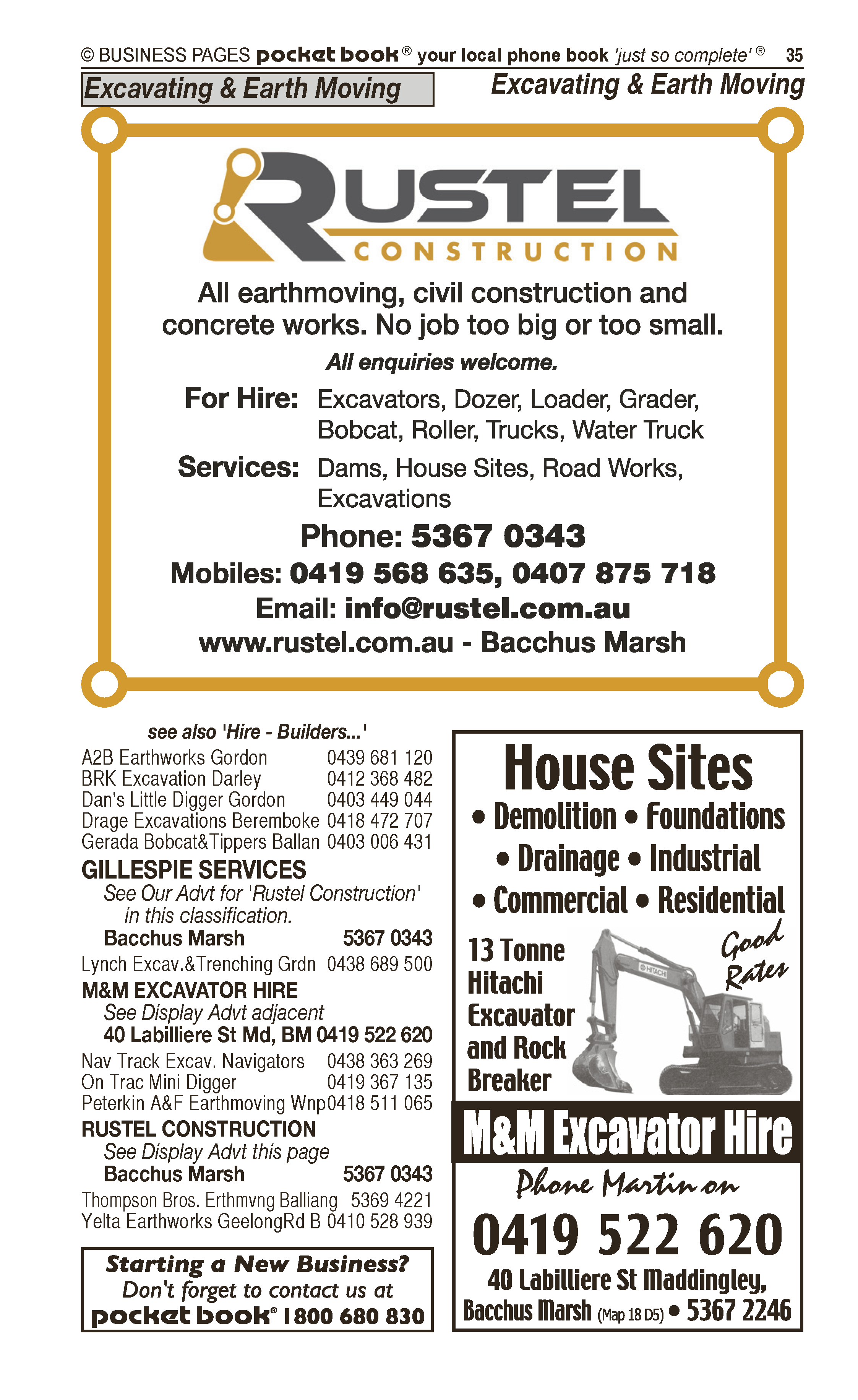 Bacchus Marsh Sand & Soil | Garden – Contractors in Maddingley | PBezy Pocket Books local directories - page 35