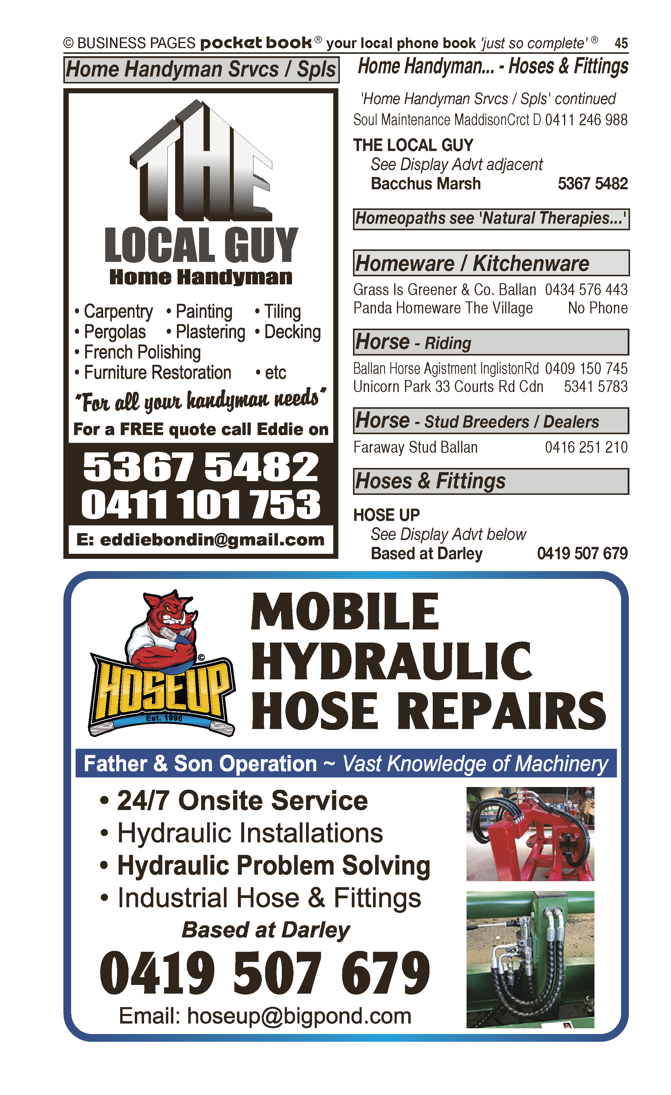 Ivers Liquid Waste | Septic Tank – Cleaning in Bacchus Marsh | PBezy Pocket Books local directories - page 45