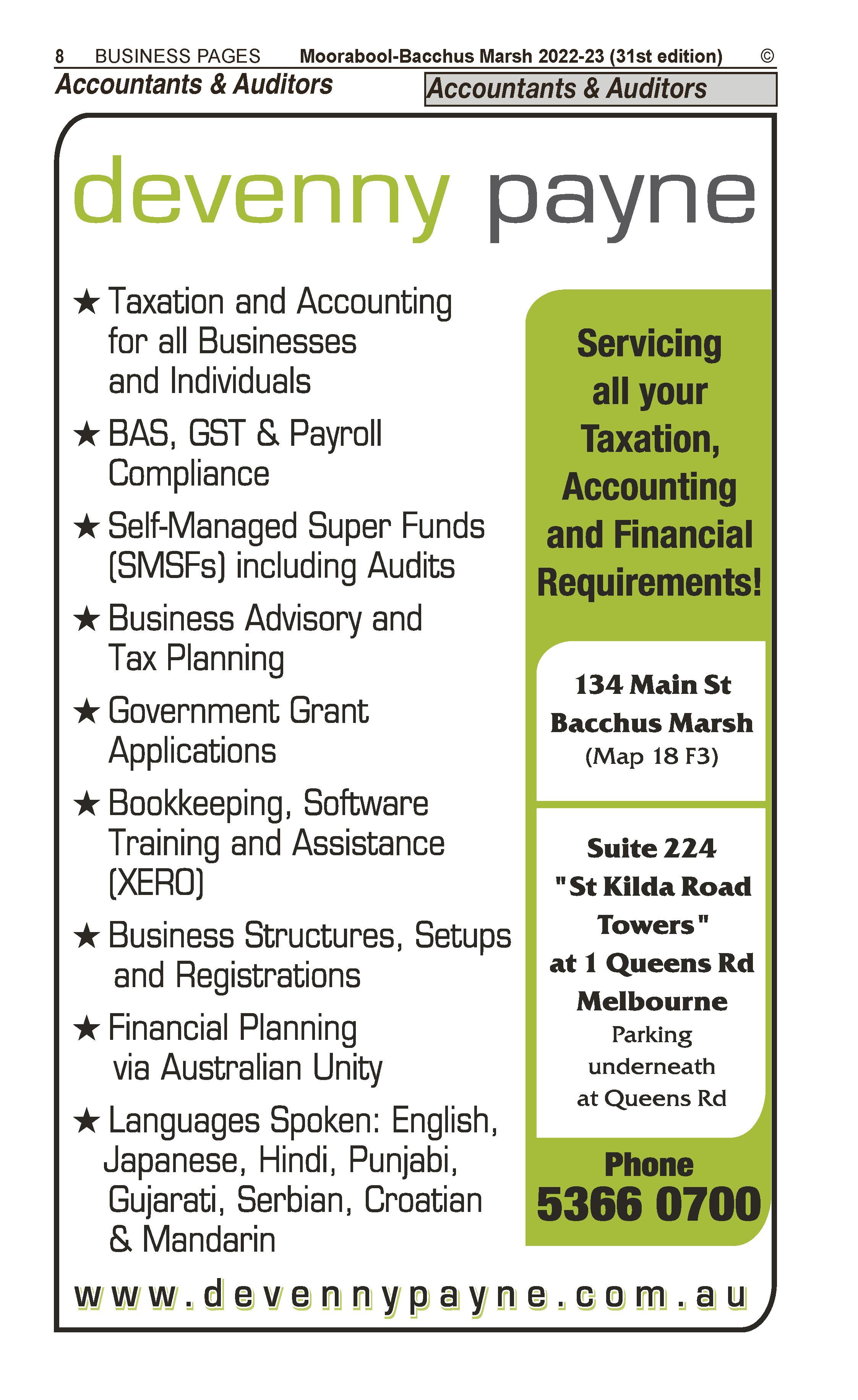 Devenny Payne Taxation & Business Services in Melbourne VIC - page 8