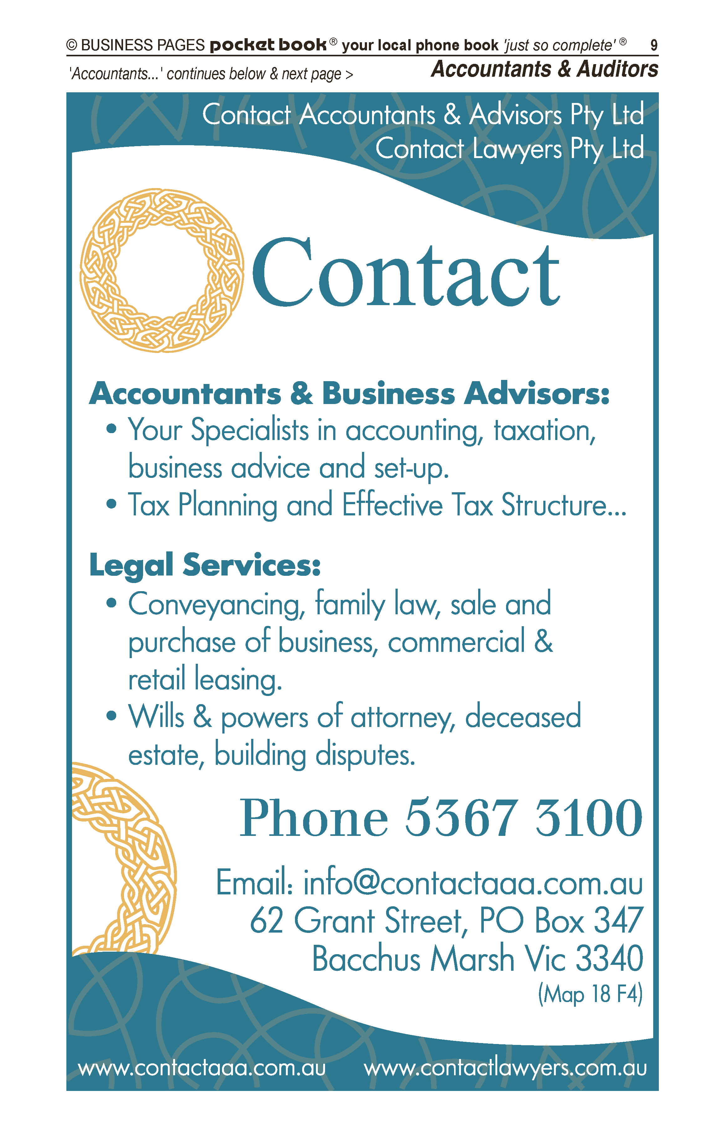 Account(able) Accountants Pty Ltd | Auditors in Bacchus Marsh | PBezy Pocket Books local directories - page 9