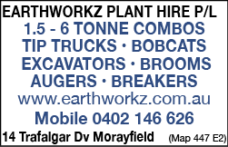 Earthworkz Plant Hire Pty Ltd - Excavating & Earth Moving Services