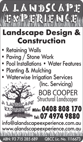 A Landscape Experience - Waterfalls Landscaping