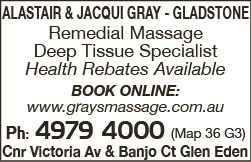 Alistair & Jacqui Gray - Gladstone - Massage