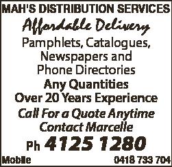 Mah's Distribution Srvcs - Advertising Distribution