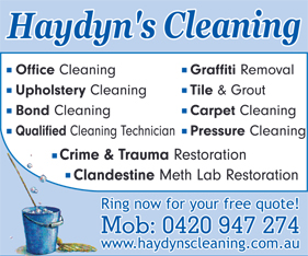 Haydyn's Cleaning - Cleaning - Contractors
