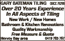 Gary Bateman Tiling - Tile Layers