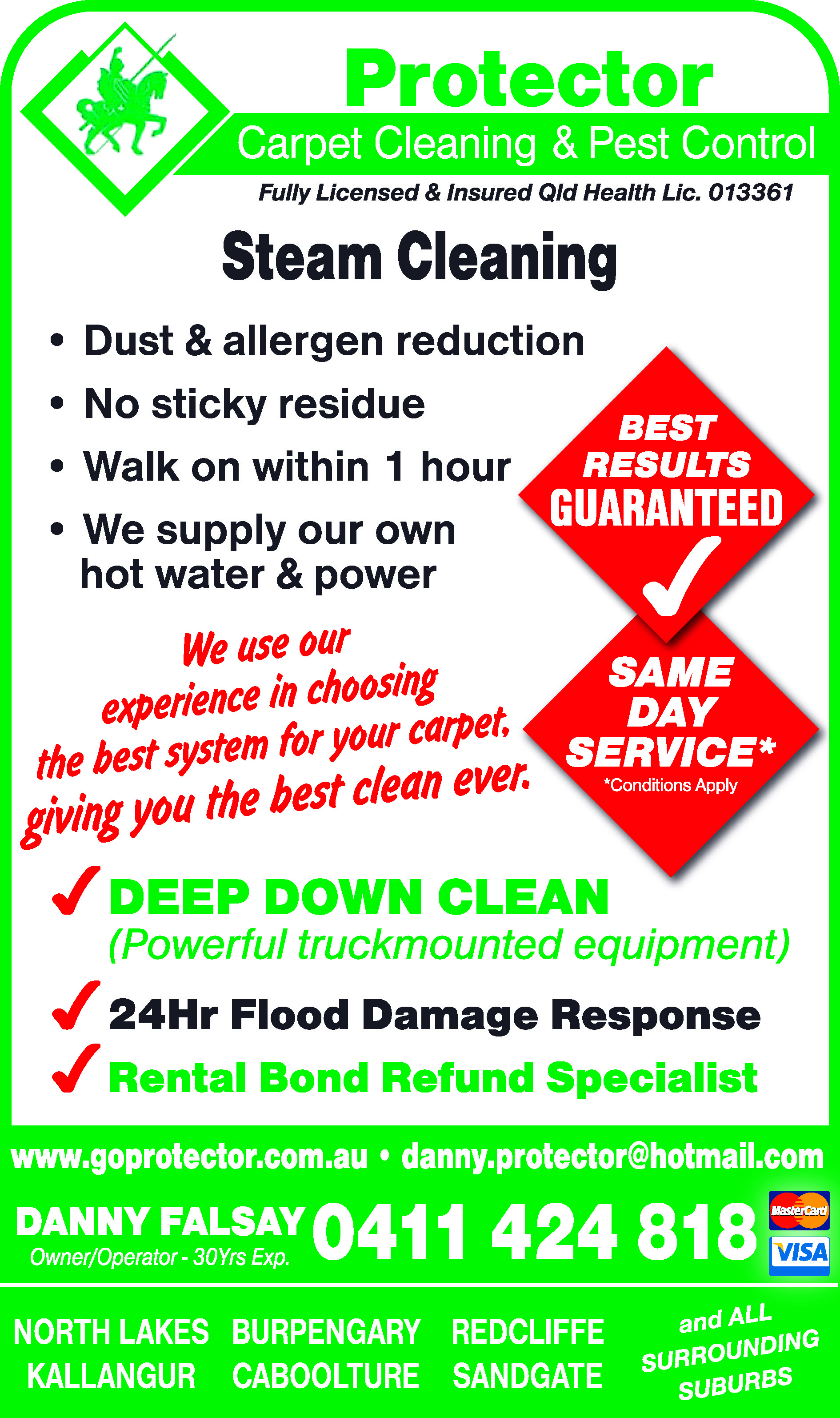 Protector Carpet Cleaning & Pest Control - Lounge Cleaning
