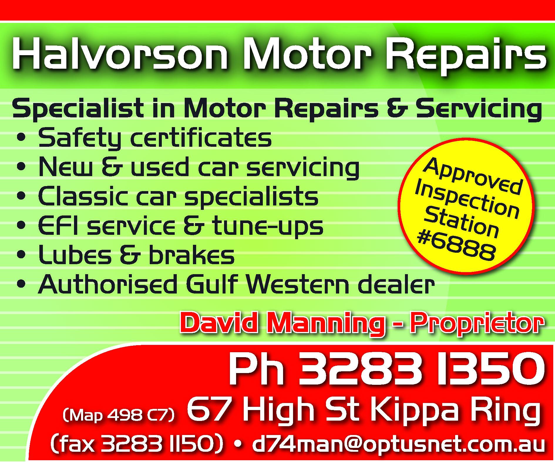 Halvorson Motor Repairs - Car Repair