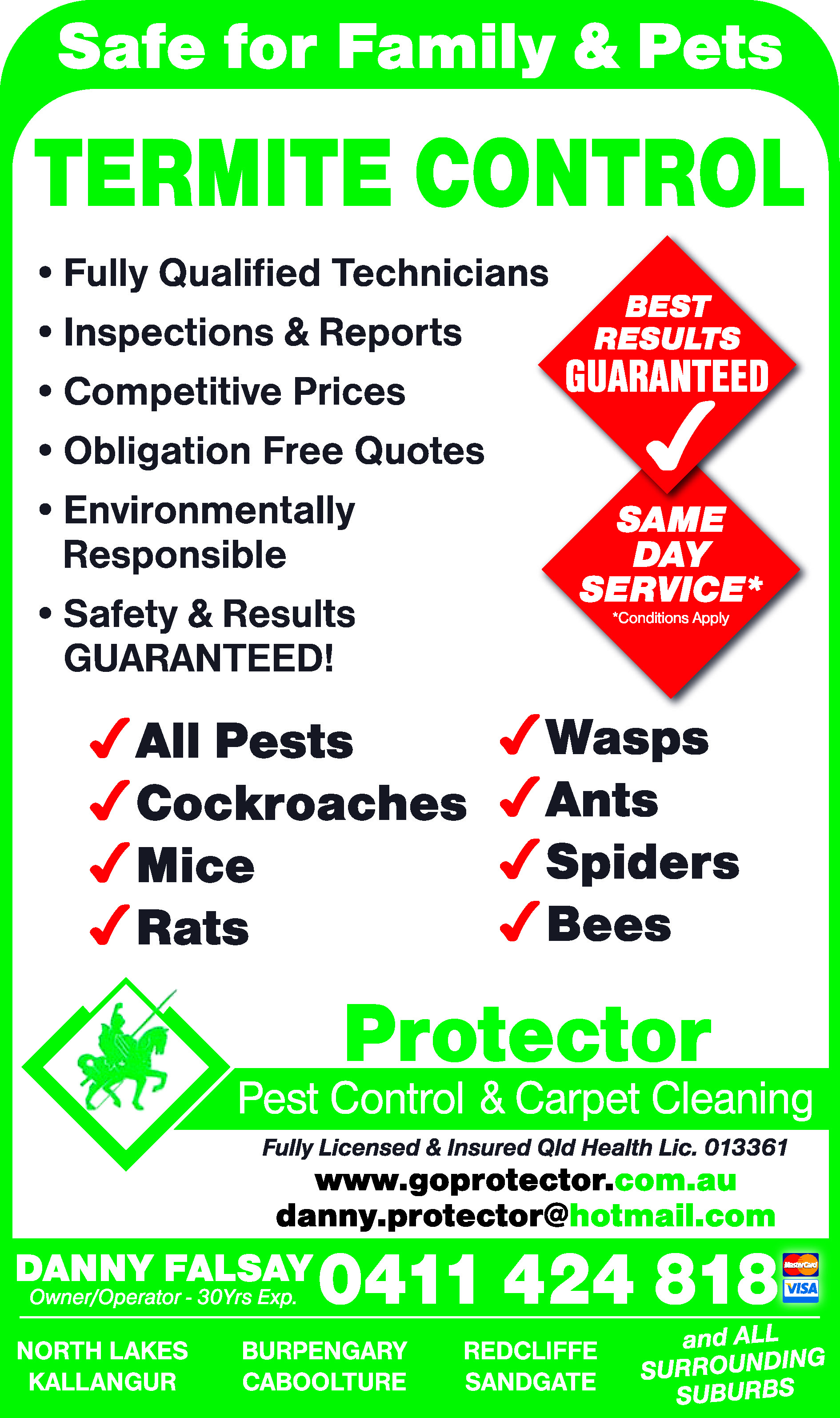 Protector Pest Control & Carpet Cleaning - Pest Control
