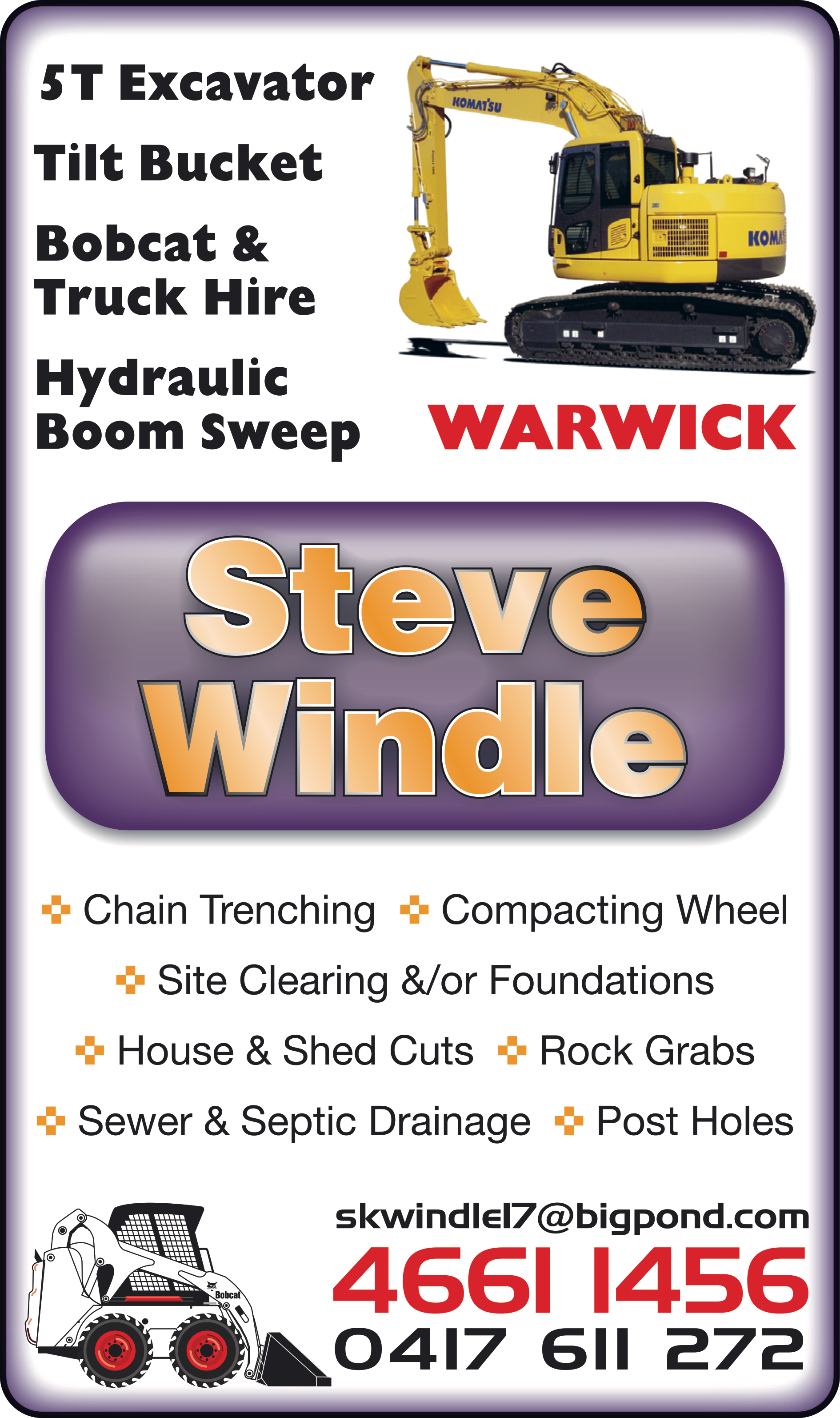 Windle Steve - Excavating & Earth Moving Services