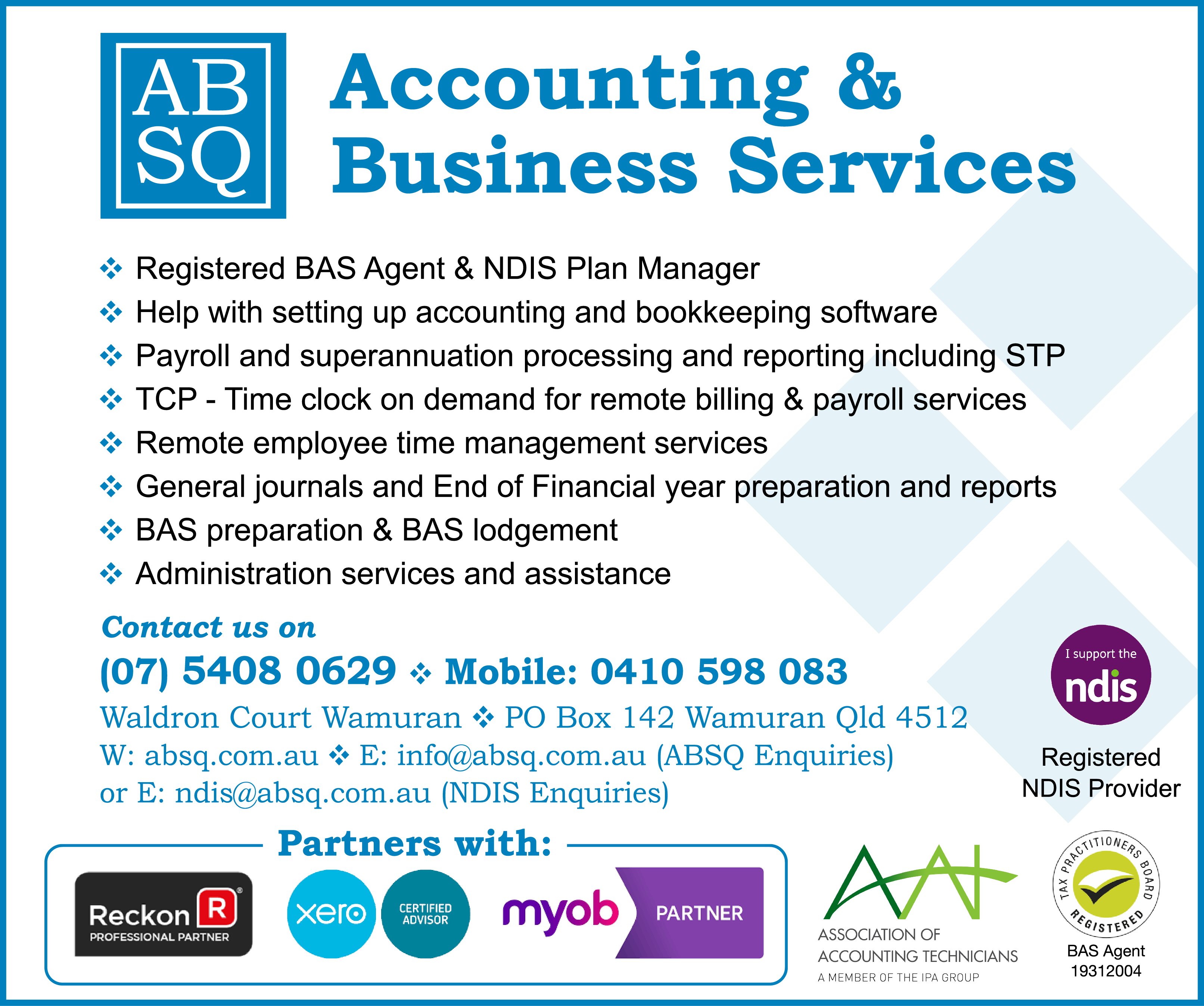 ABSQ Accounting and Business Services - advertisement