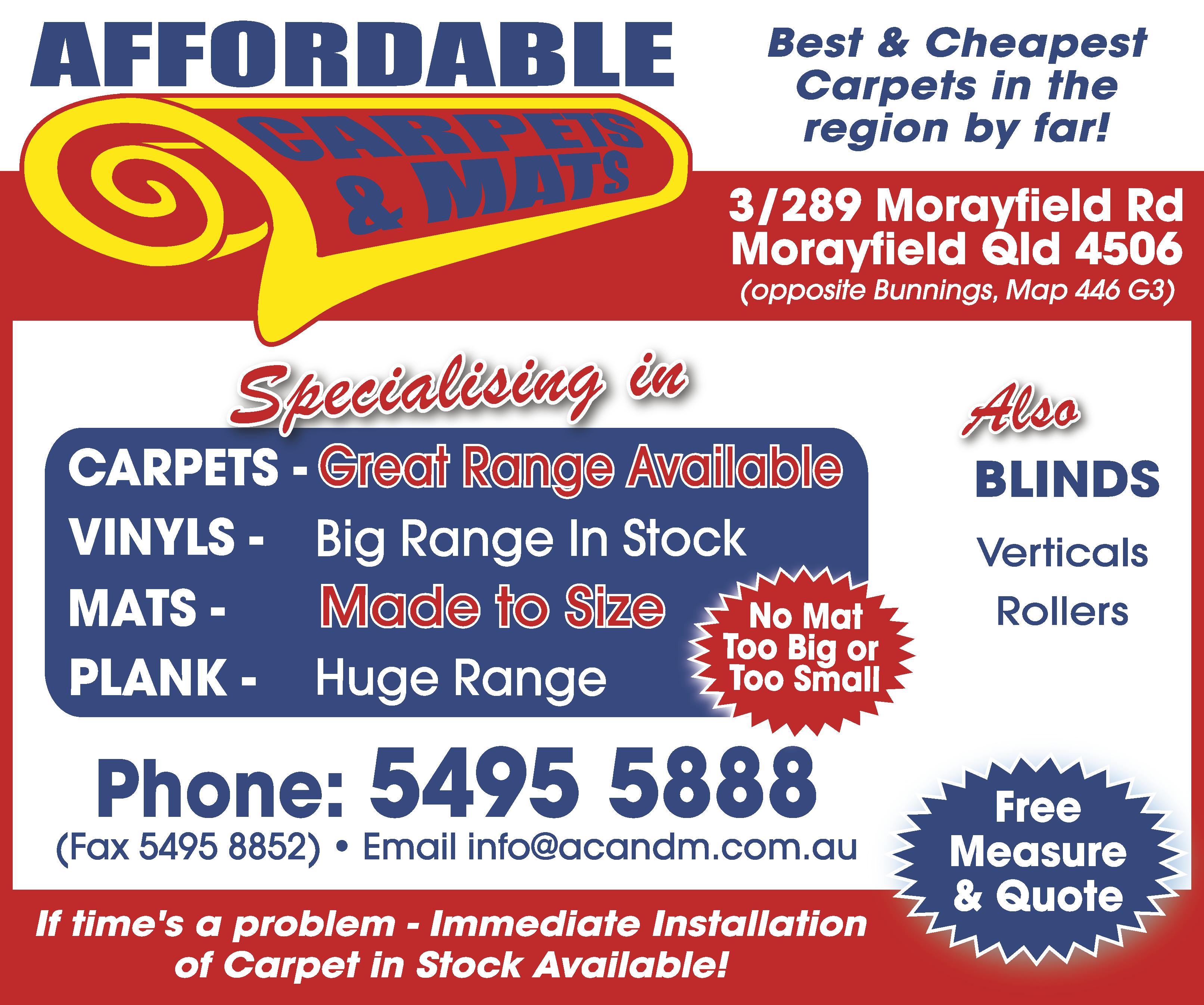 Affordable Carpets & Mats - advertisement